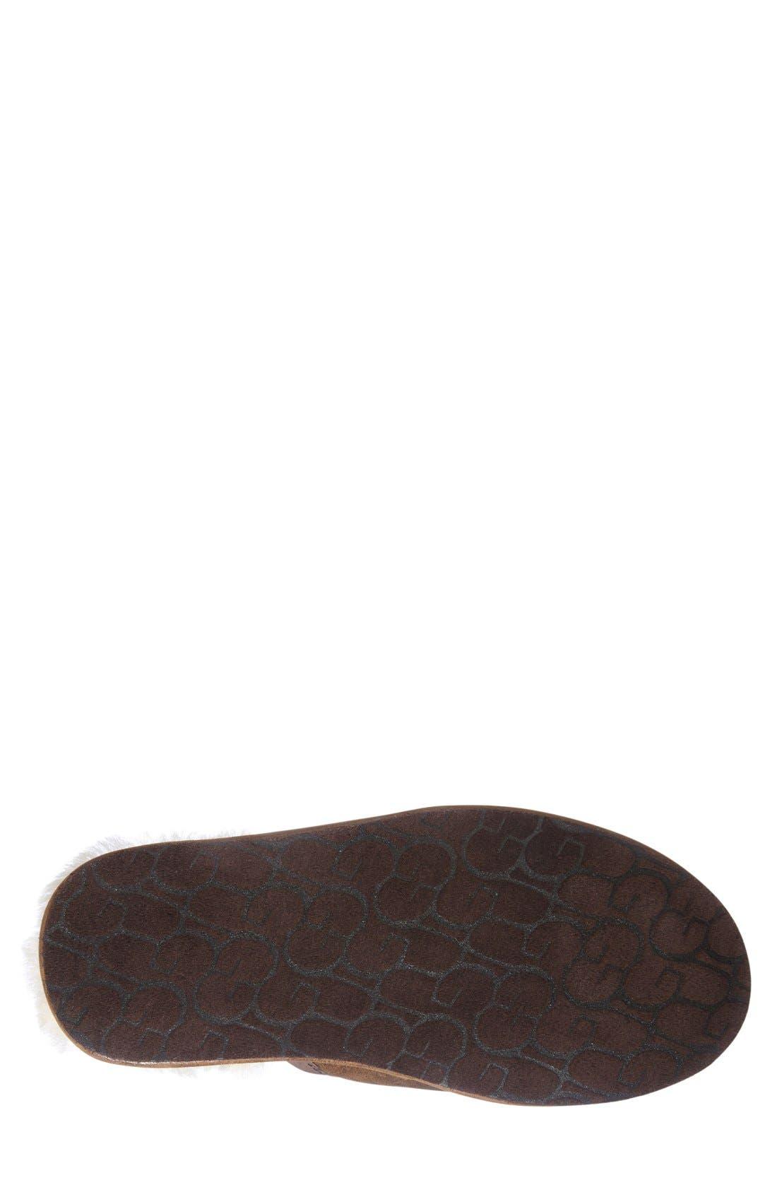 Scuff - Deco Genuine Shearling Slipper,                             Alternate thumbnail 4, color,                             219