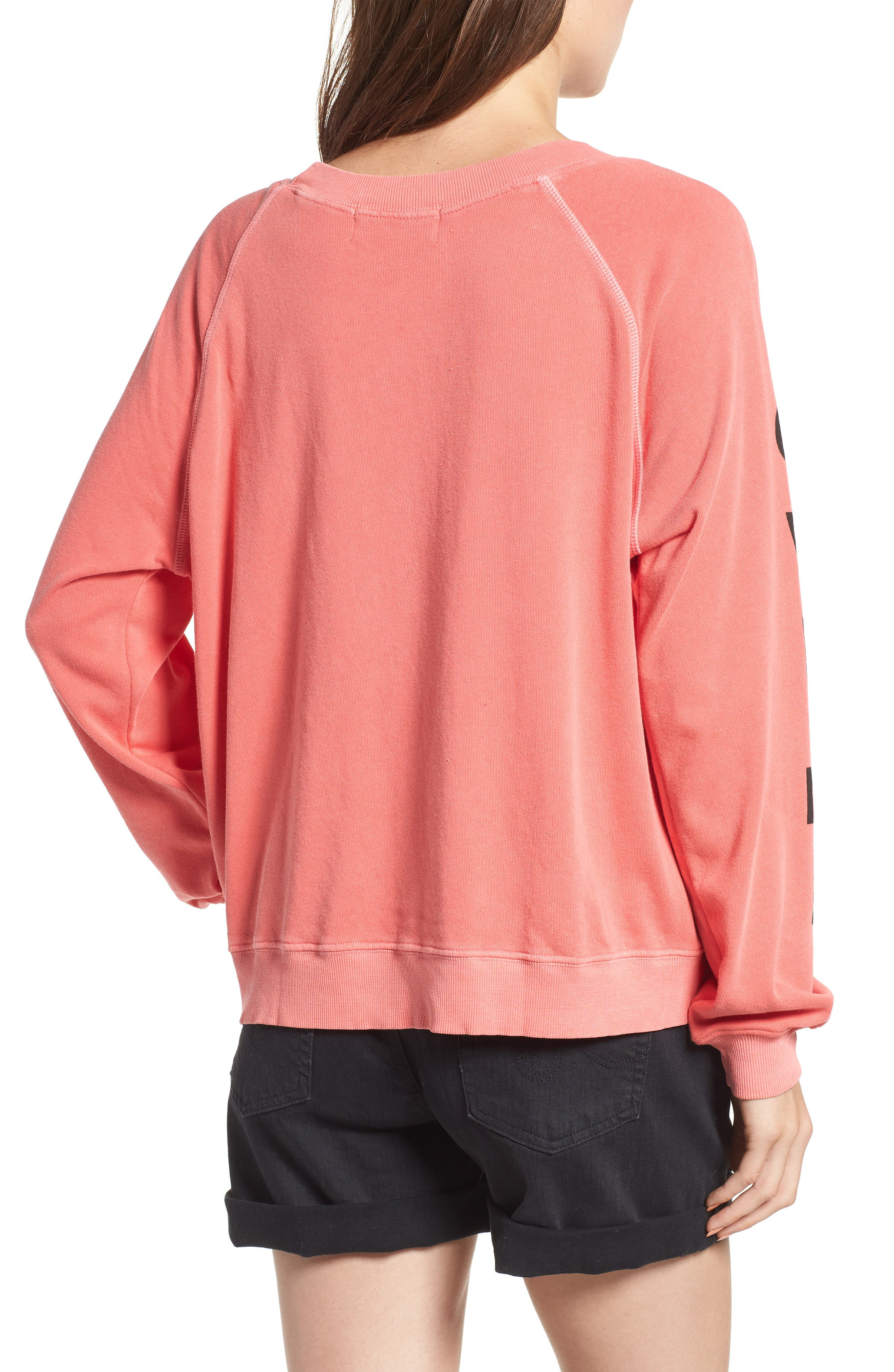 Love Me Tender Sommers Sweatshirt,                             Alternate thumbnail 2, color,                             PIGMENT HOT LIPSTICK