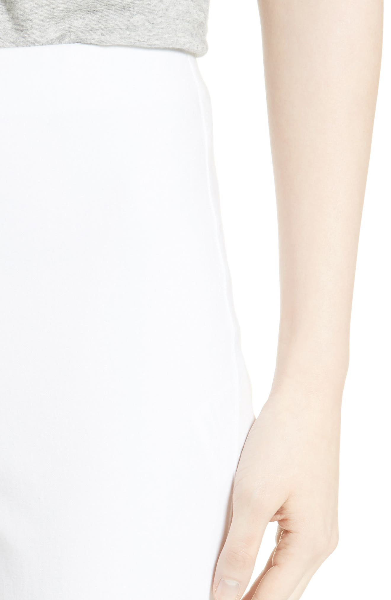 'Simone' Slim Ankle Pants,                             Alternate thumbnail 4, color,                             WHITE