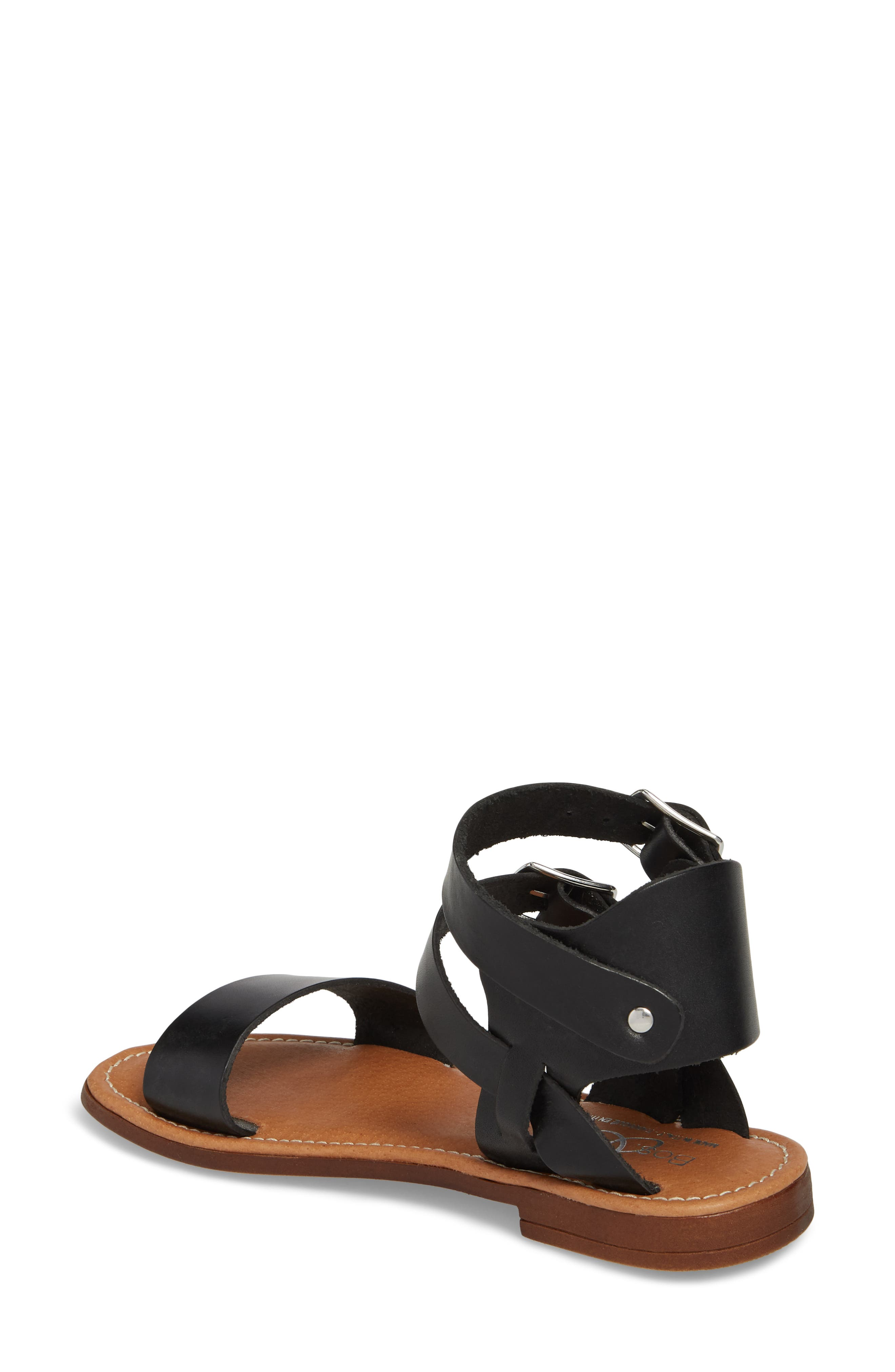 Ida Mid Top Sandal,                             Alternate thumbnail 2, color,                             BLACK VACCHETTA LEATHER