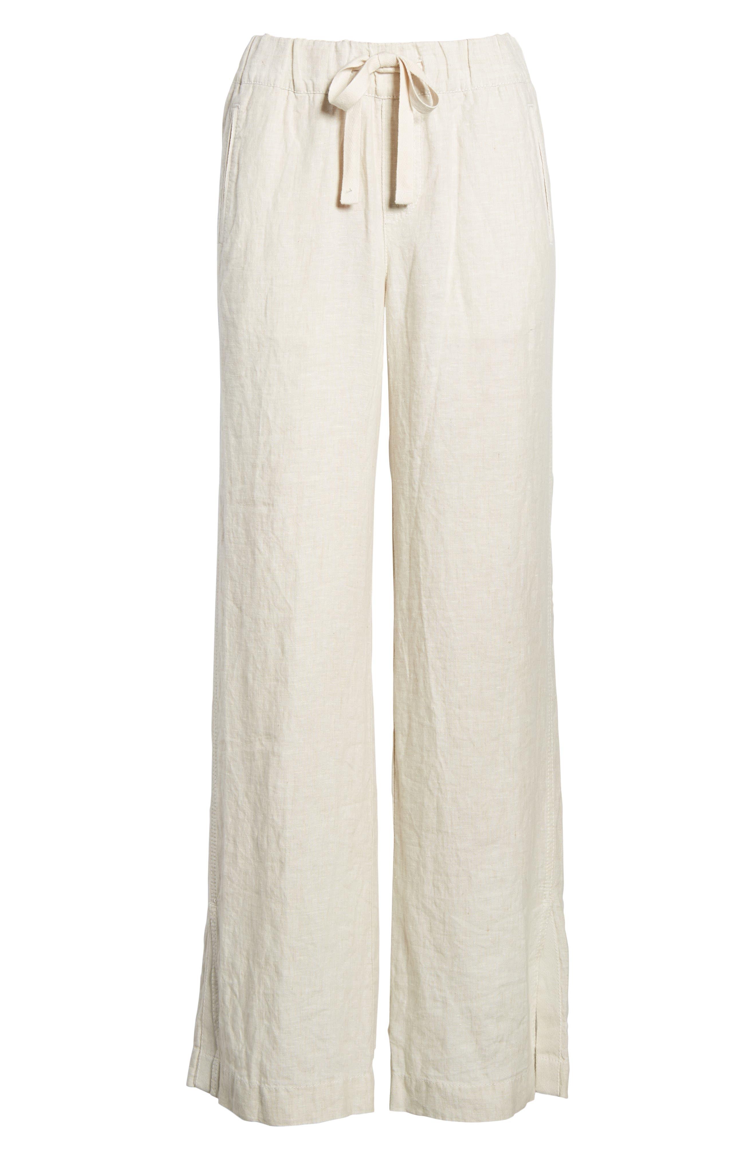Linen Track Pants,                             Alternate thumbnail 28, color,