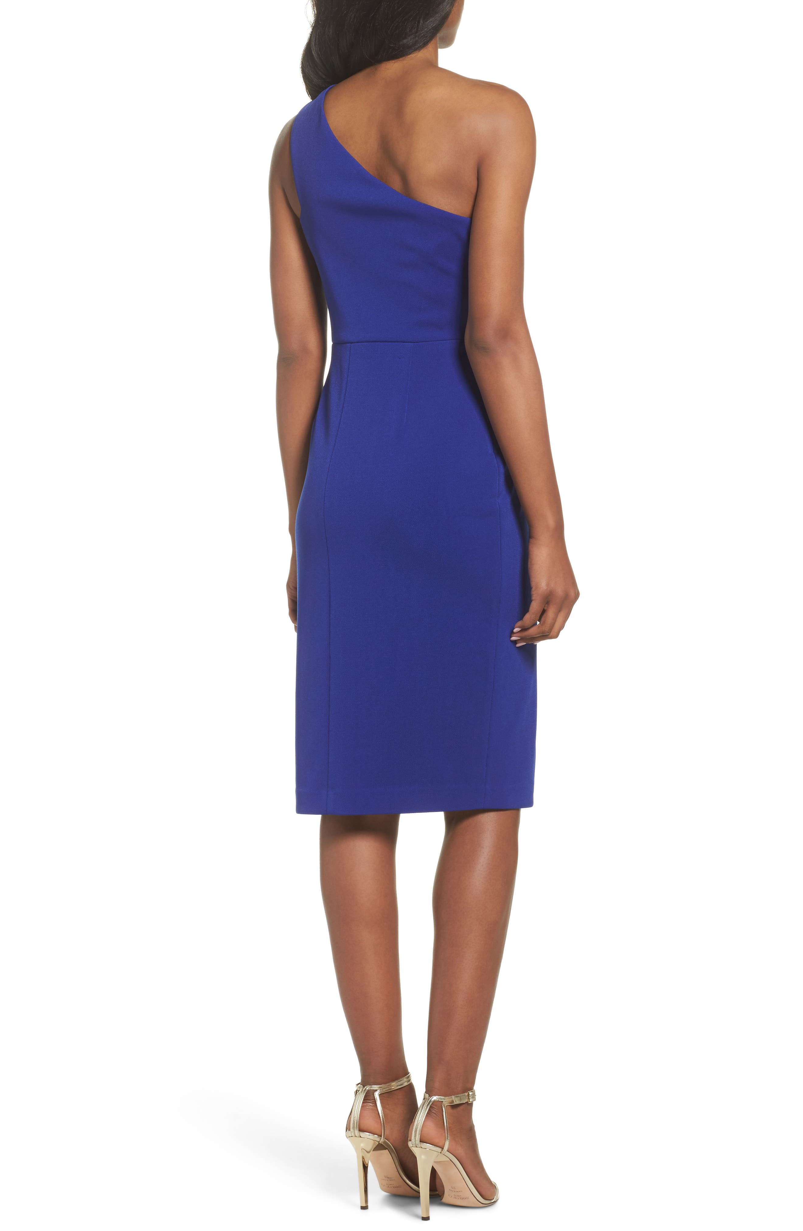 One-Shoulder Sheath Dress,                             Alternate thumbnail 2, color,                             430