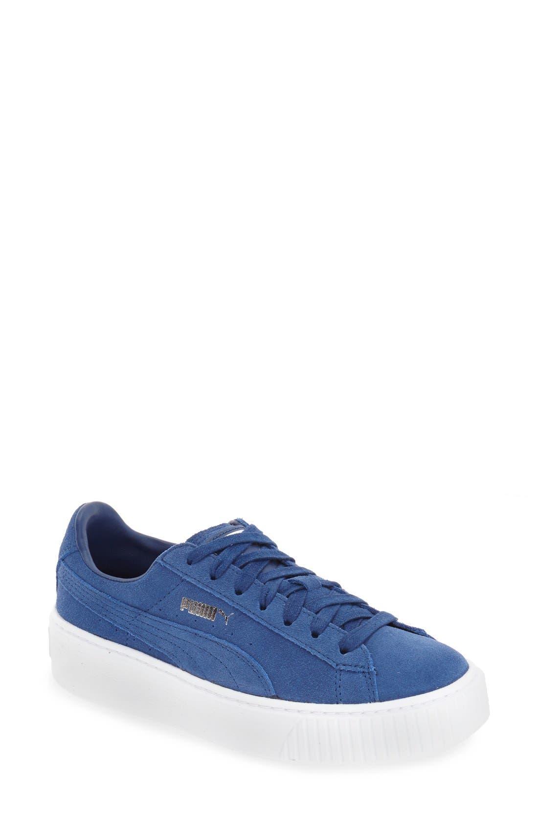 Suede Platform Sneaker,                             Main thumbnail 5, color,