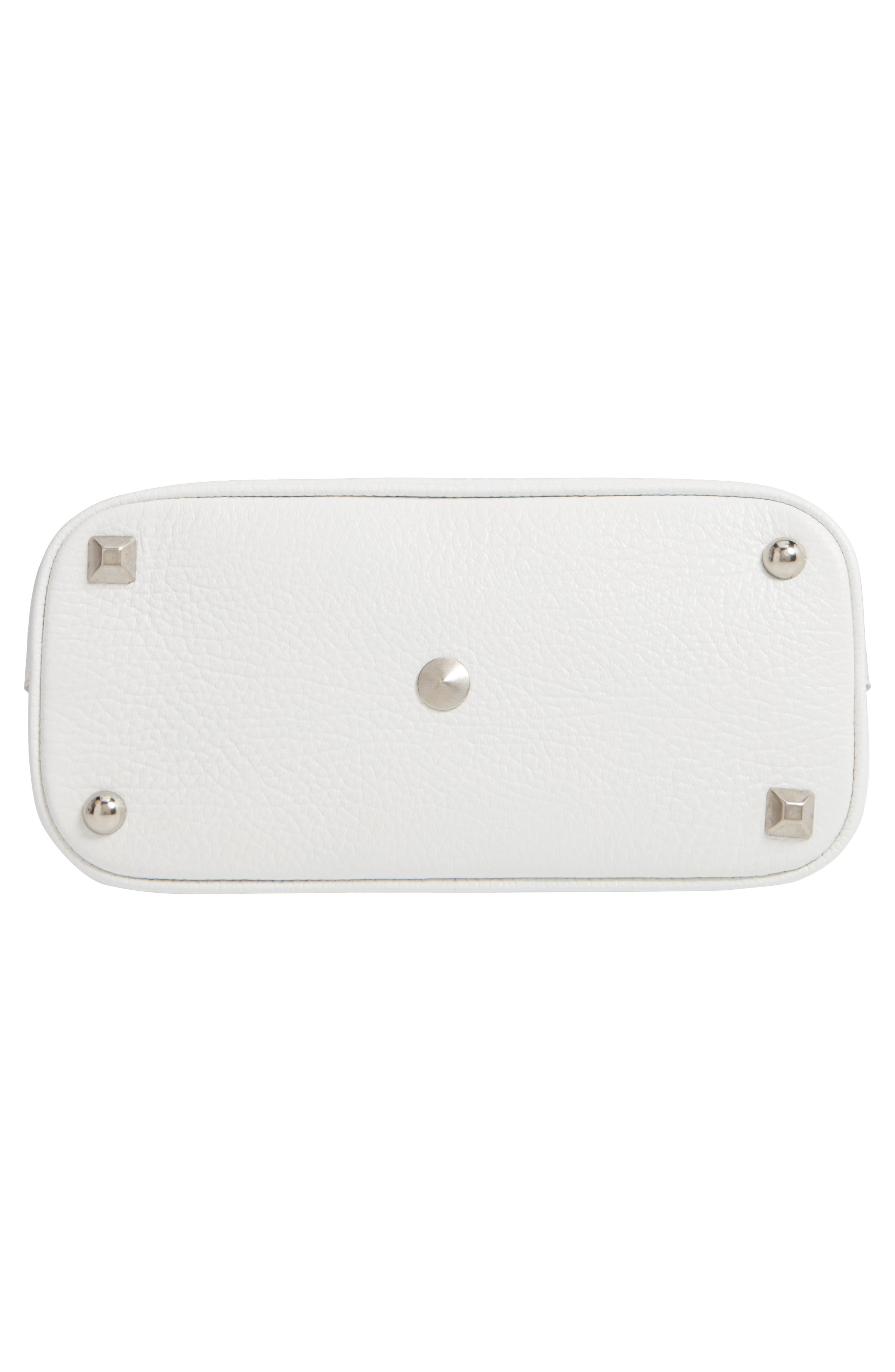 Small 5AC Calfskin Leather Handbag,                             Alternate thumbnail 7, color,                             WHITE