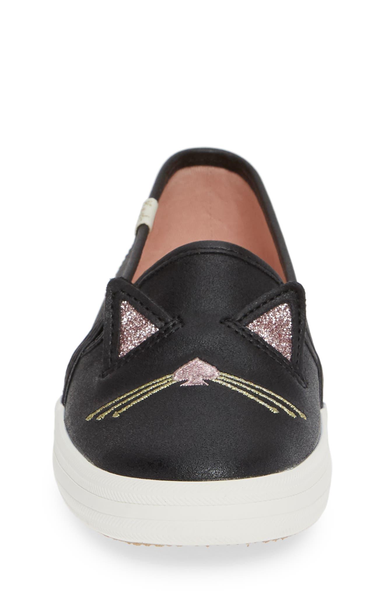 x kate spade new york Double Decker Sneaker,                             Alternate thumbnail 4, color,                             HAYDEN CAT
