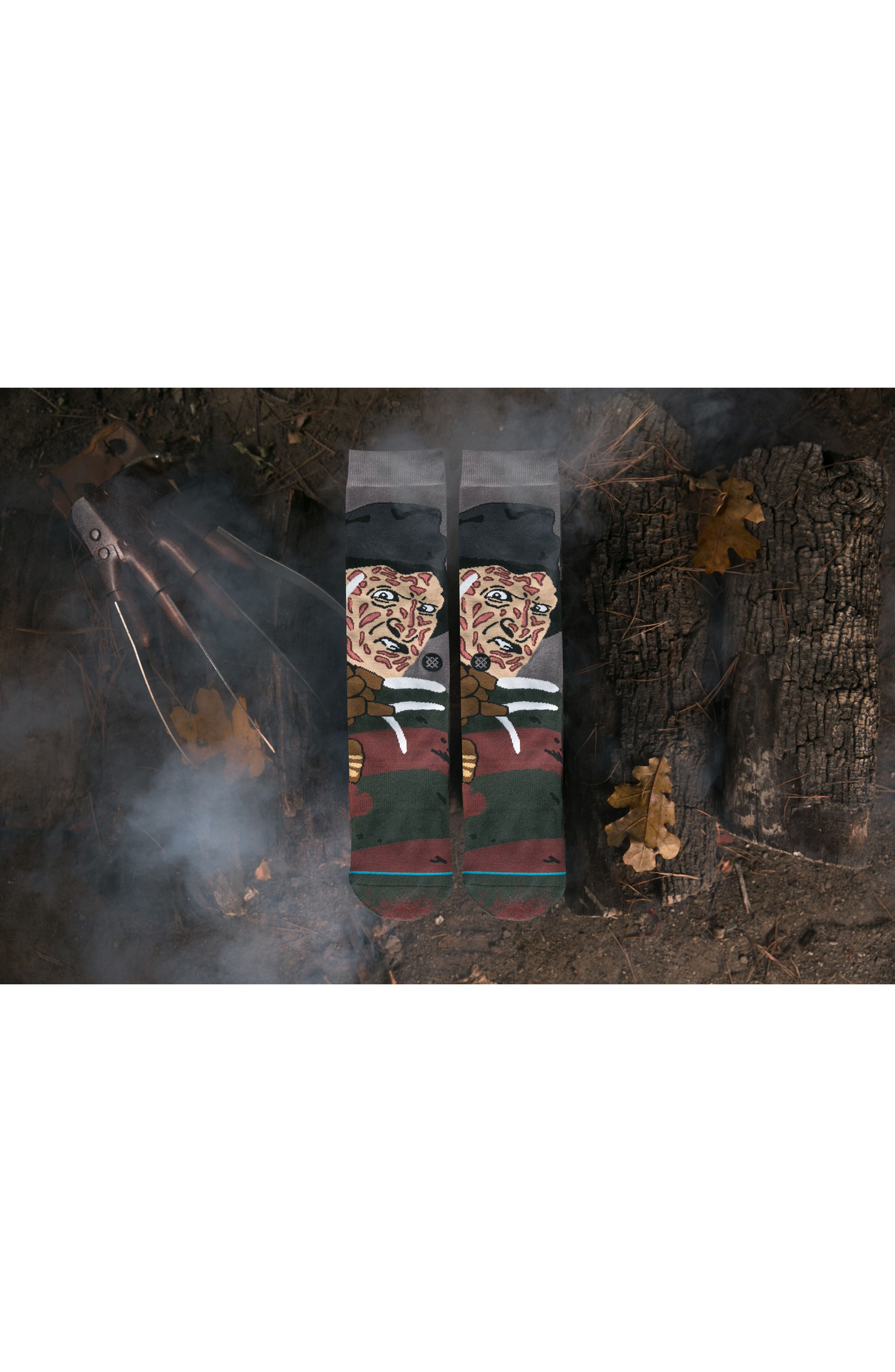 Freddy Krueger - Legends of Horror Socks,                             Alternate thumbnail 3, color,                             001