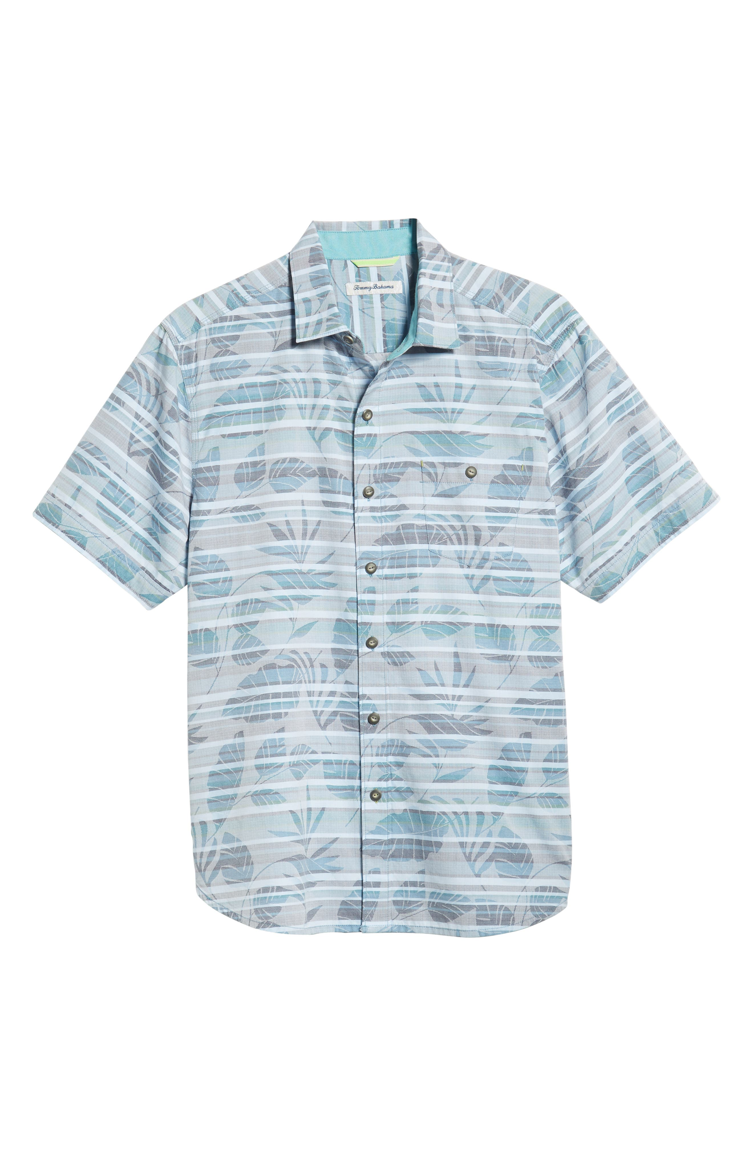 Playa of Paradise Regular Fit Camp Shirt,                             Alternate thumbnail 5, color,                             SEAGROVE
