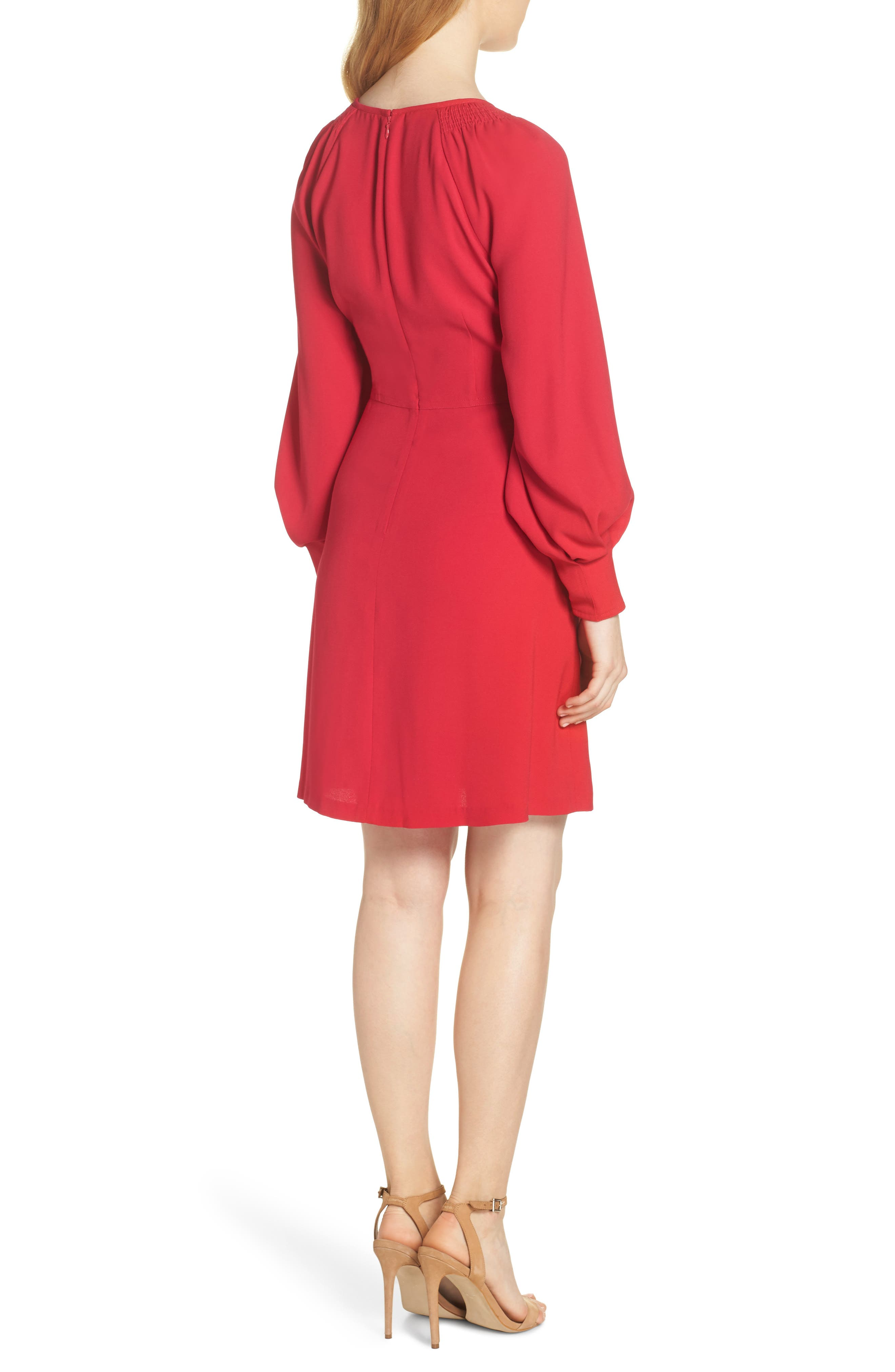 A-Line Dress,                             Alternate thumbnail 2, color,                             PINK
