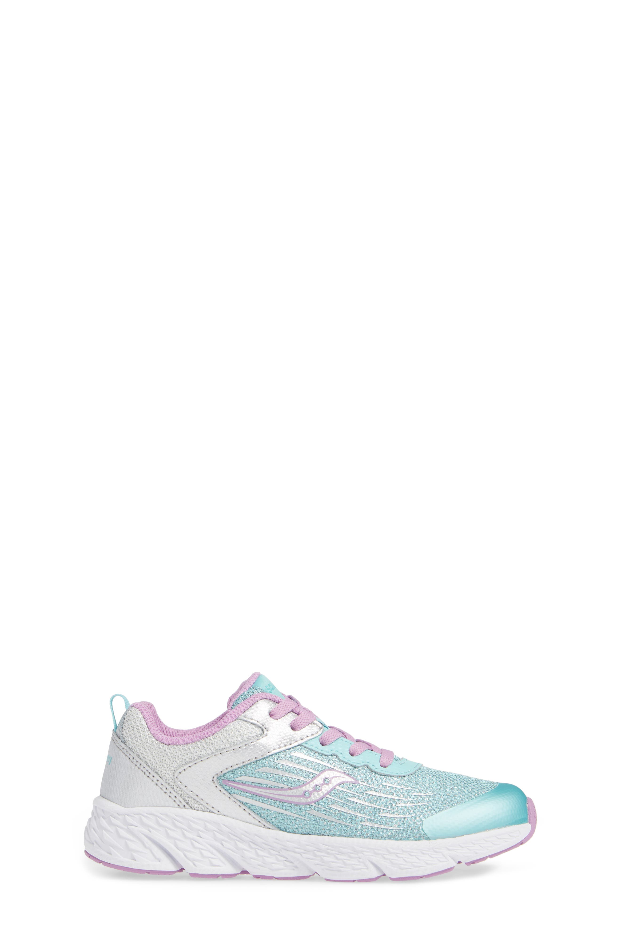 Wind Sneaker,                             Alternate thumbnail 3, color,                             TURQUOISE/ SILVER