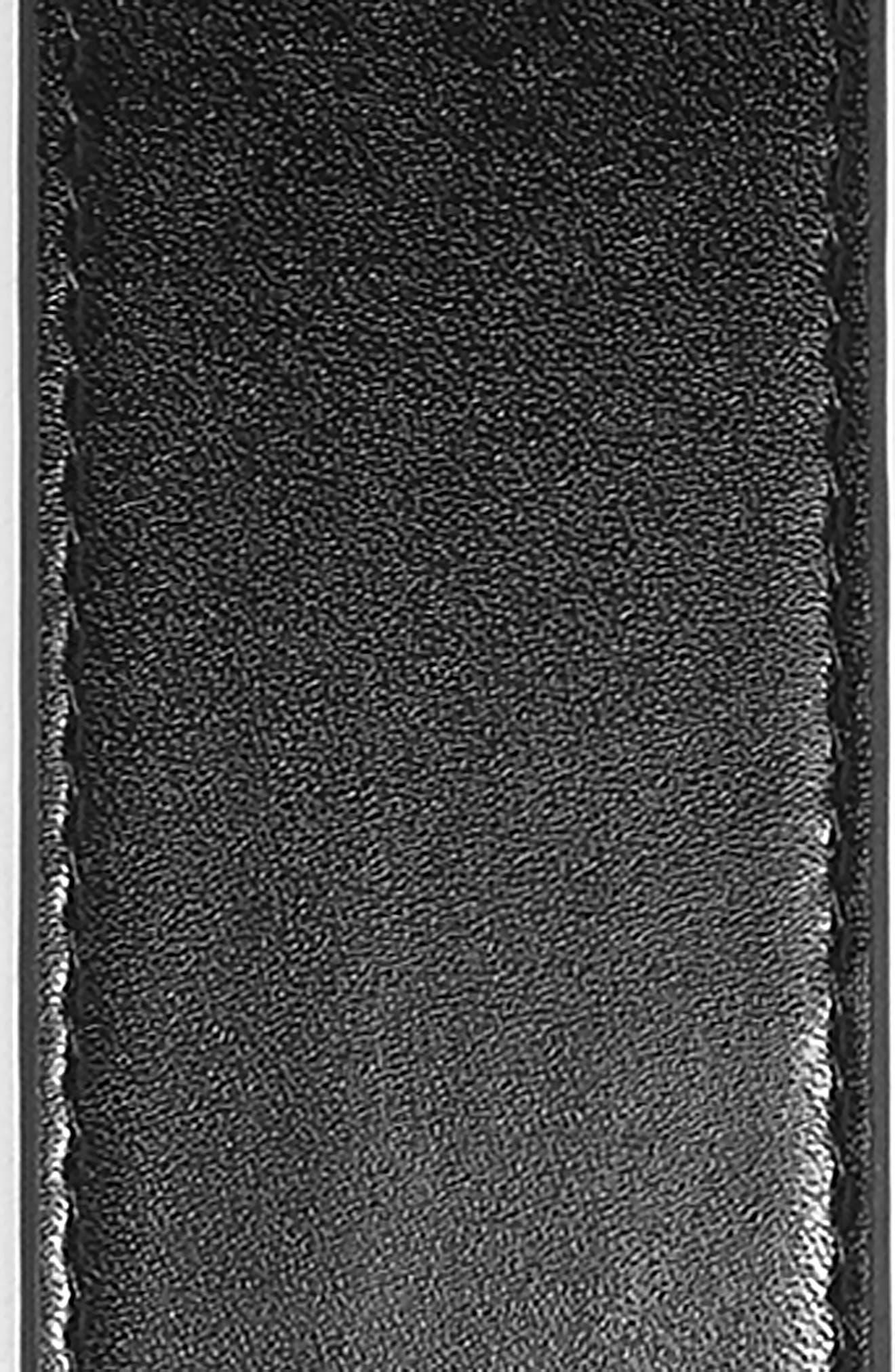 Round Tortoise Buckle Faux Leather Belt,                             Alternate thumbnail 3, color,                             001