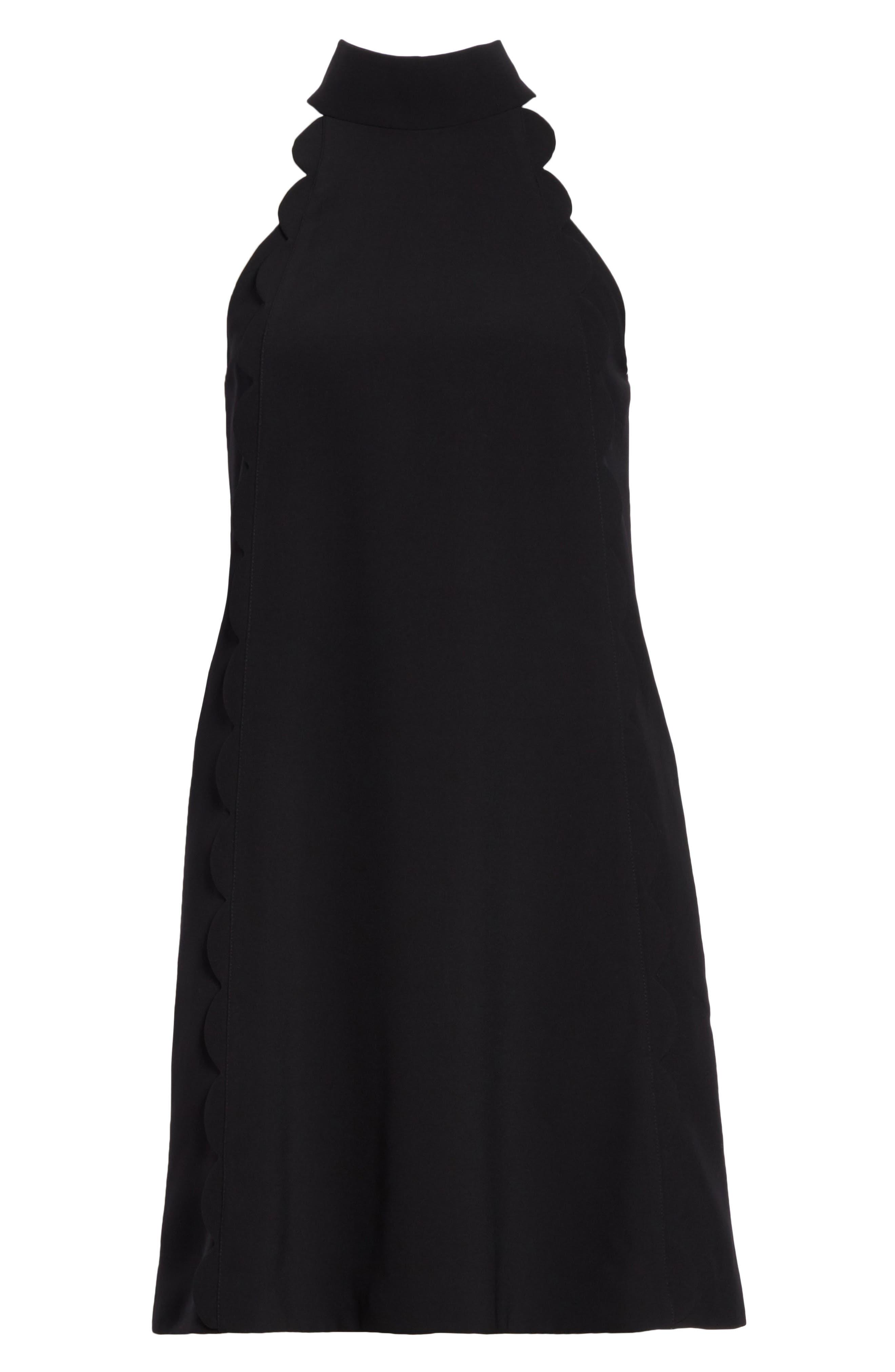 Torrii High Neck Tunic Dress,                             Alternate thumbnail 6, color,                             BLACK