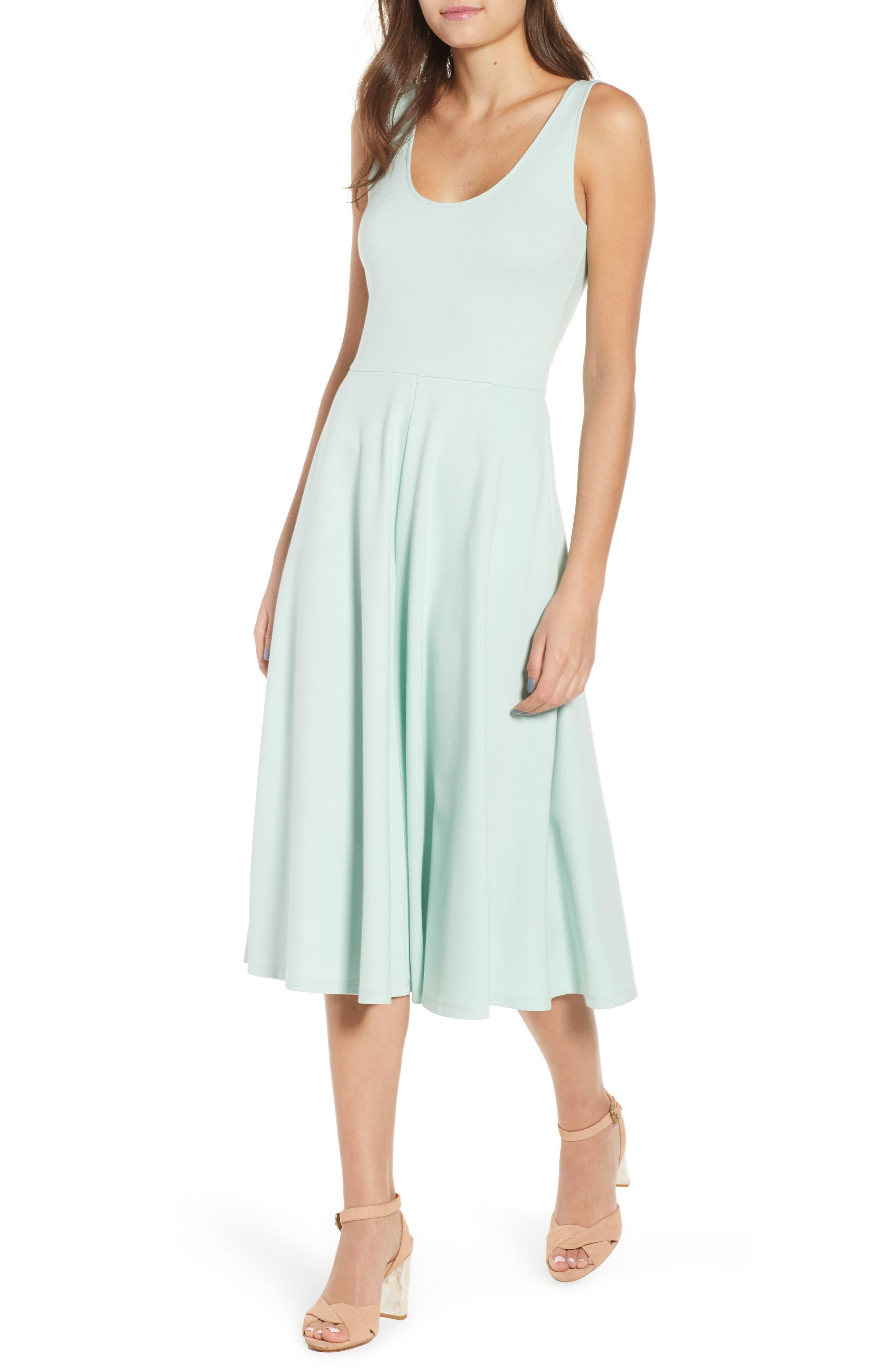 Stretch Knit Midi Dress,                             Main thumbnail 2, color,