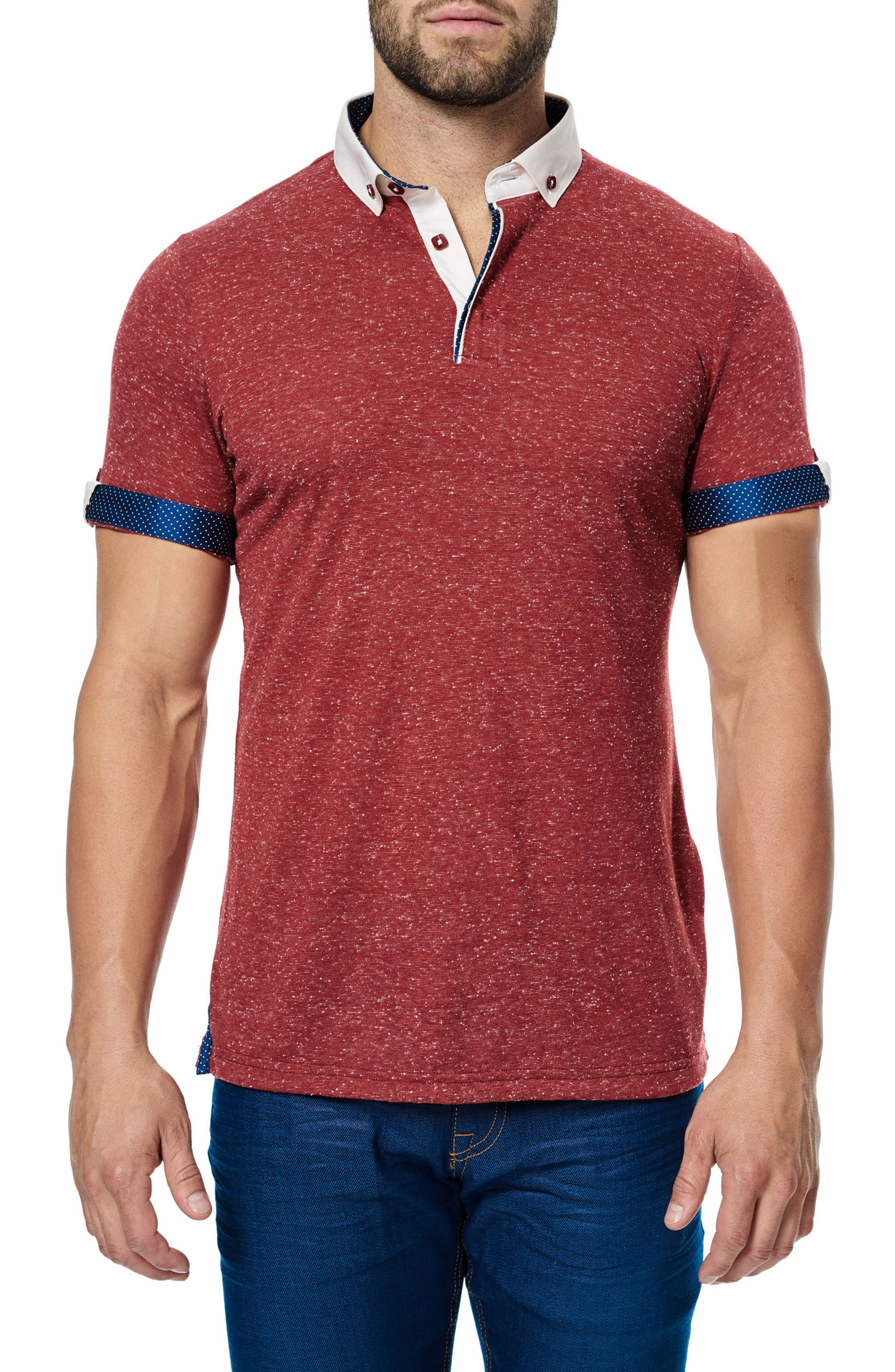 Woven Trim Polo,                             Alternate thumbnail 2, color,                             610