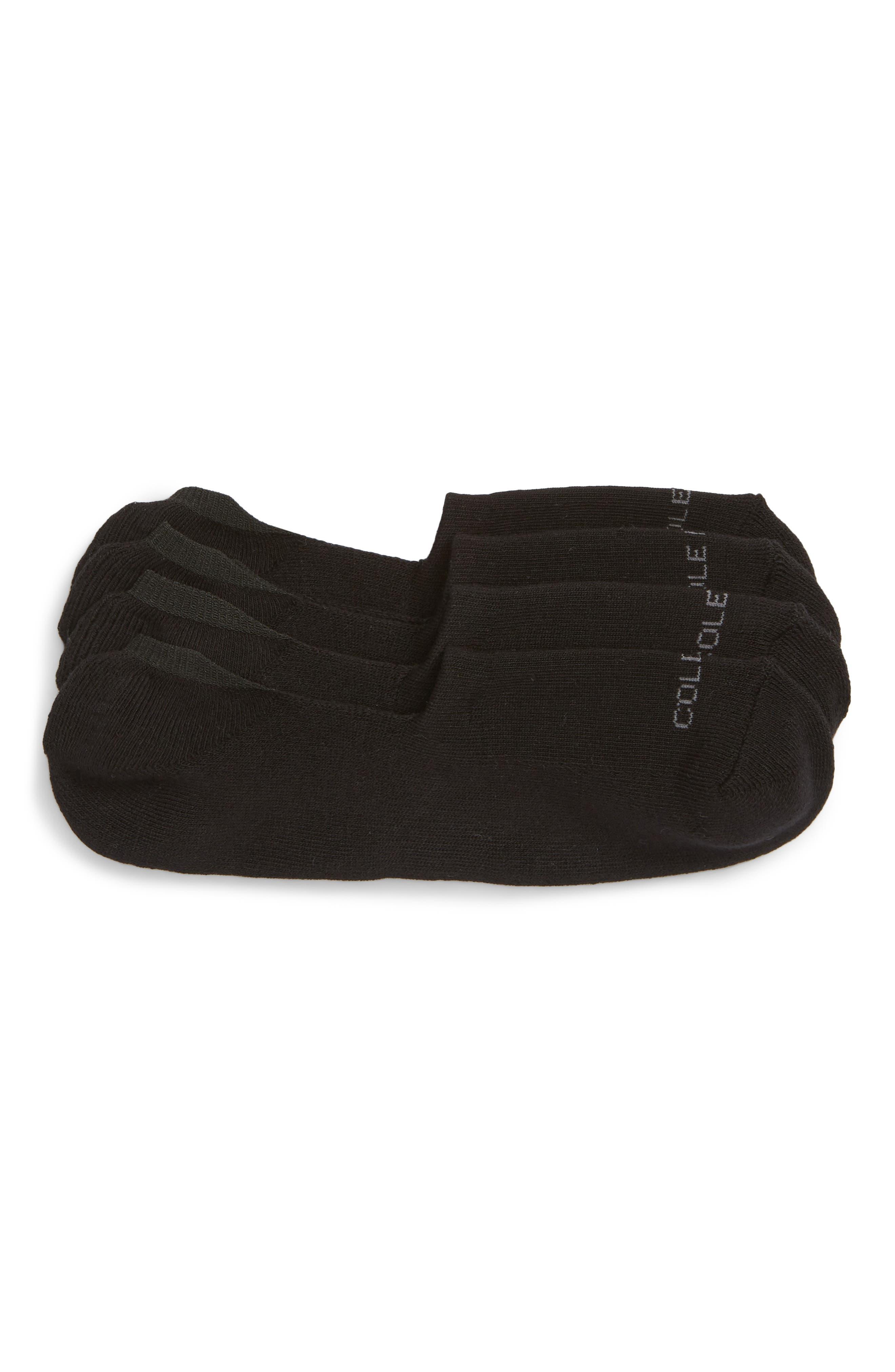 2-Pack Casual Cushion No-Show Socks,                             Main thumbnail 1, color,                             BLACK