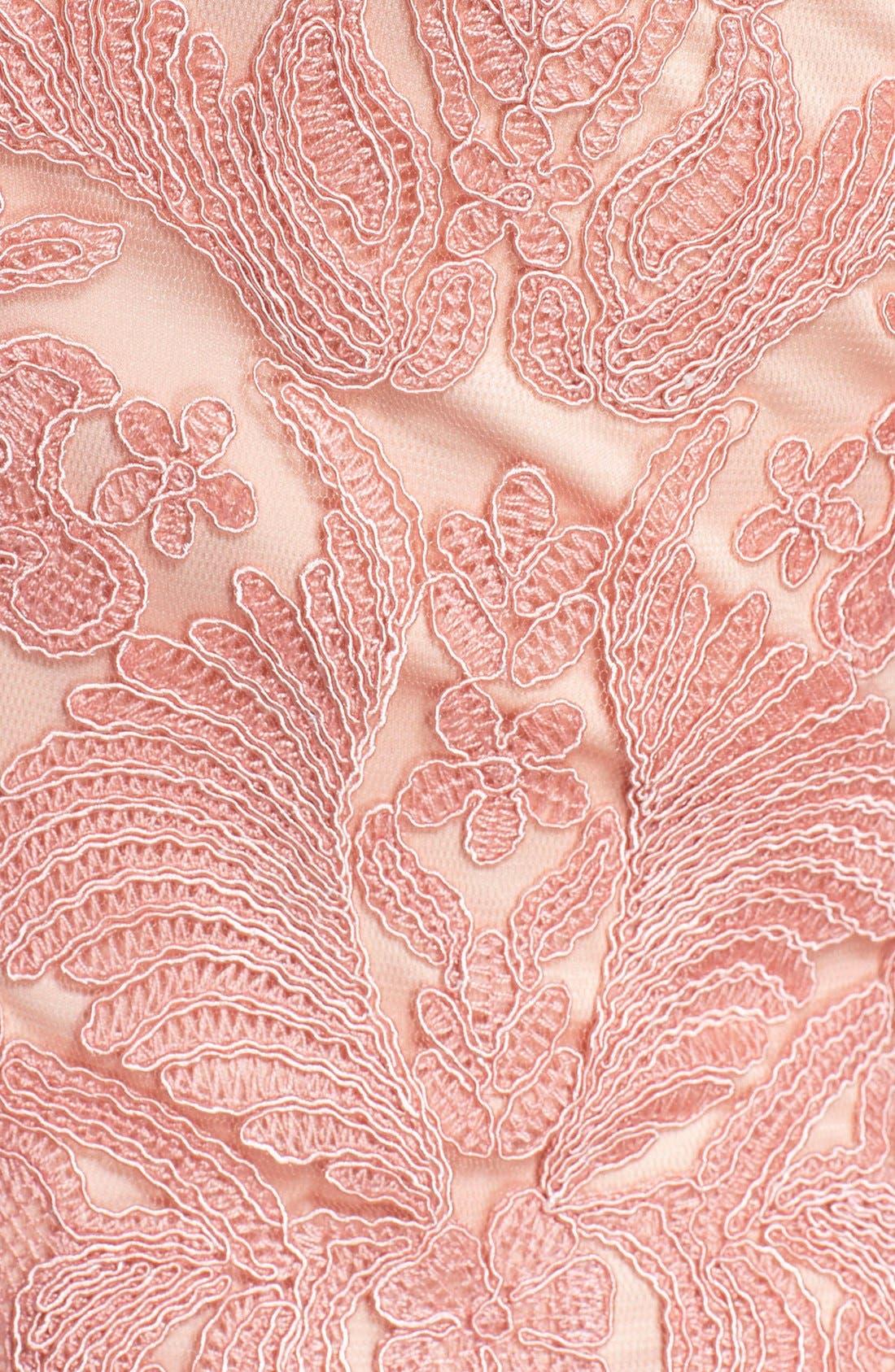 Illusion Yoke Lace Sheath Dress,                             Alternate thumbnail 81, color,