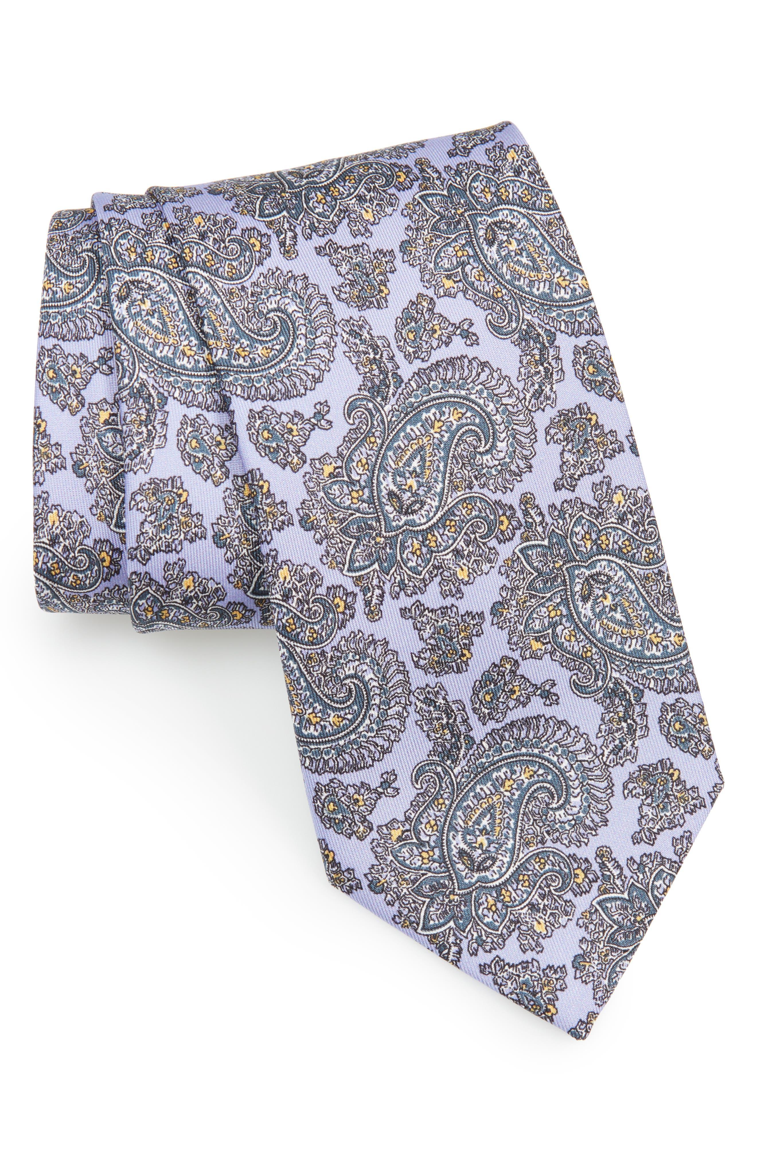Paisley Silk Tie,                         Main,                         color, 502