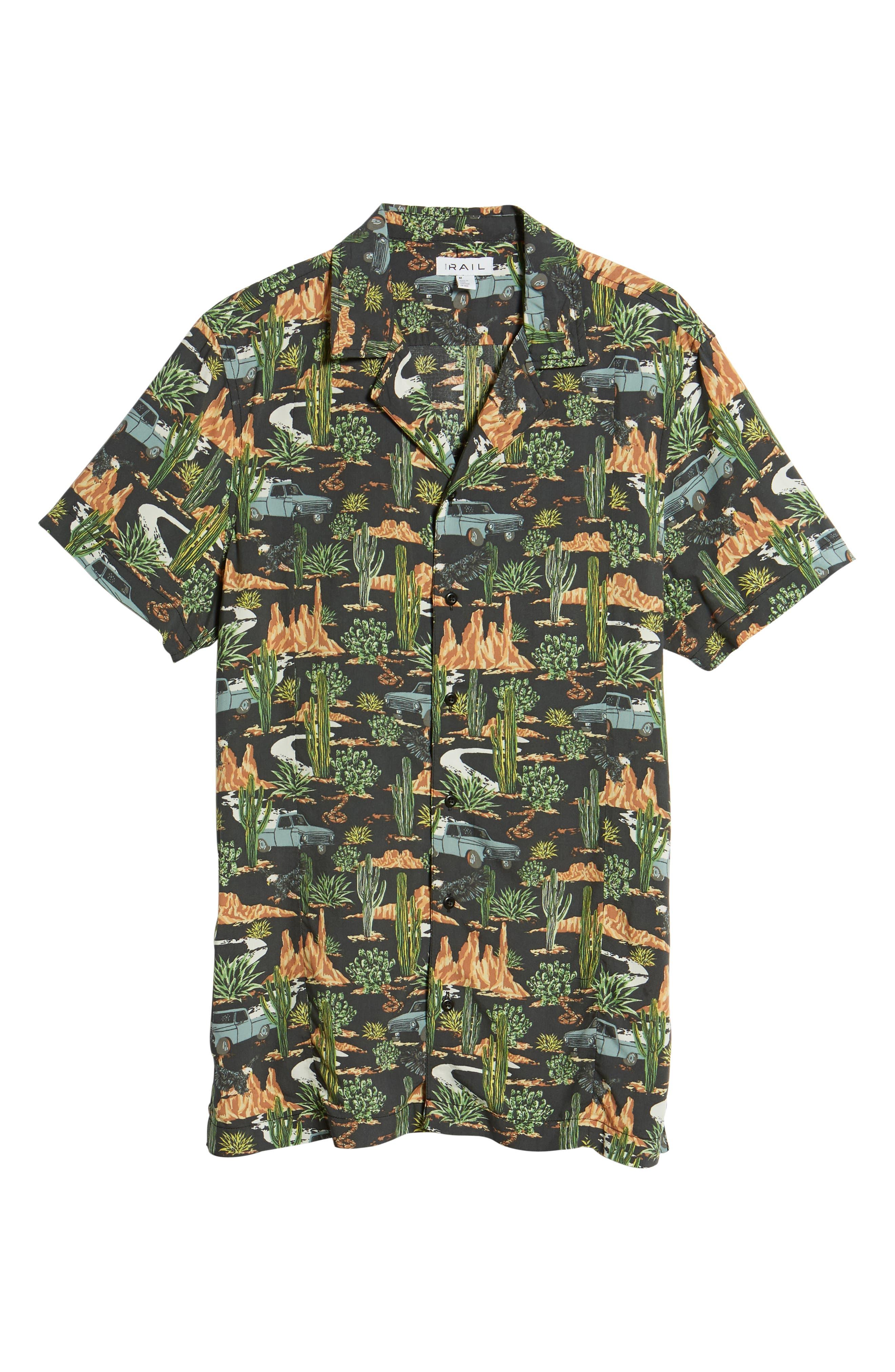 Print Camp Shirt,                             Alternate thumbnail 6, color,                             GREY ON THE ROAD PRINT