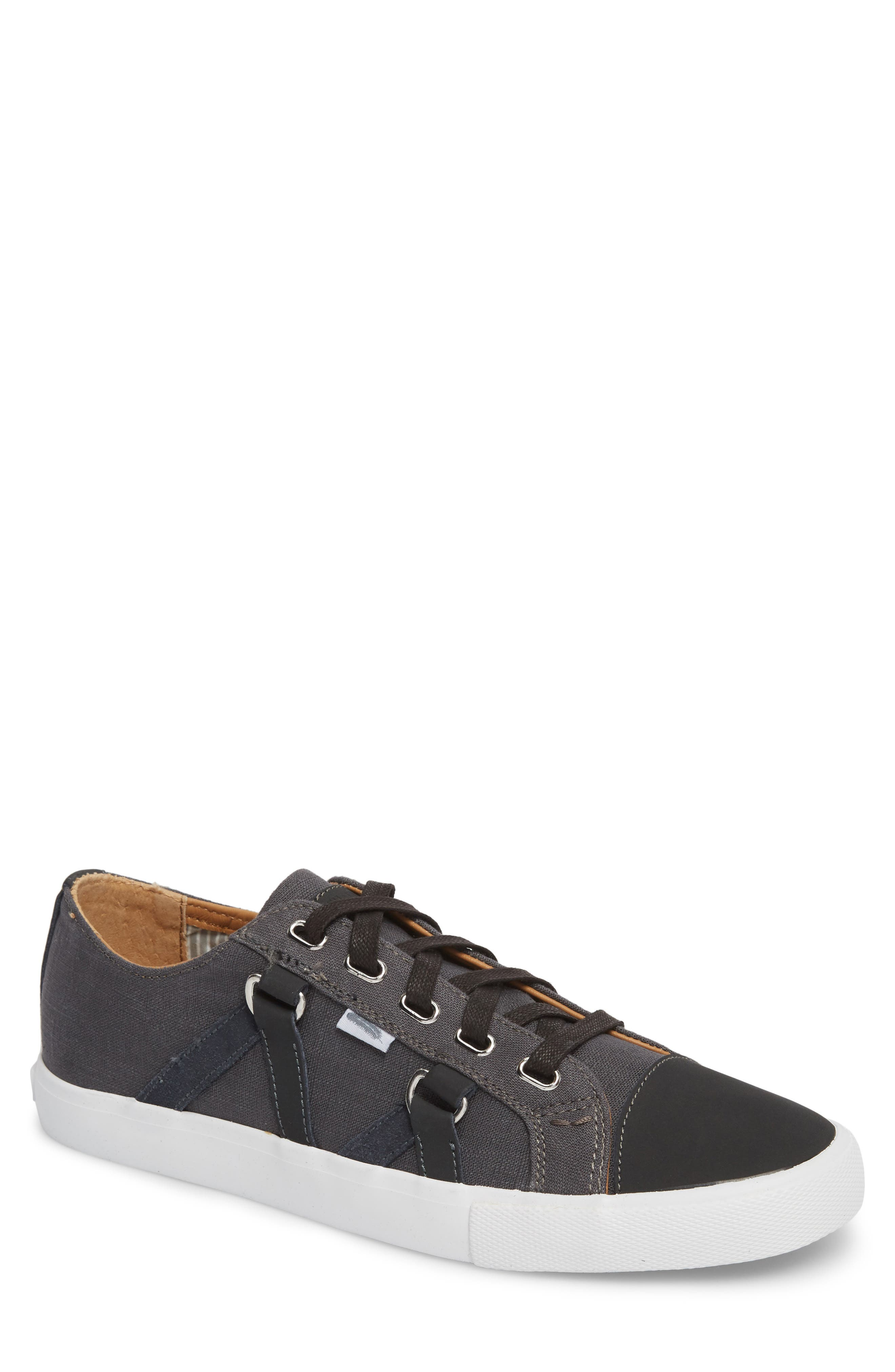 Signature Low Top Sneaker,                         Main,                         color, CHARCOAL CANVAS