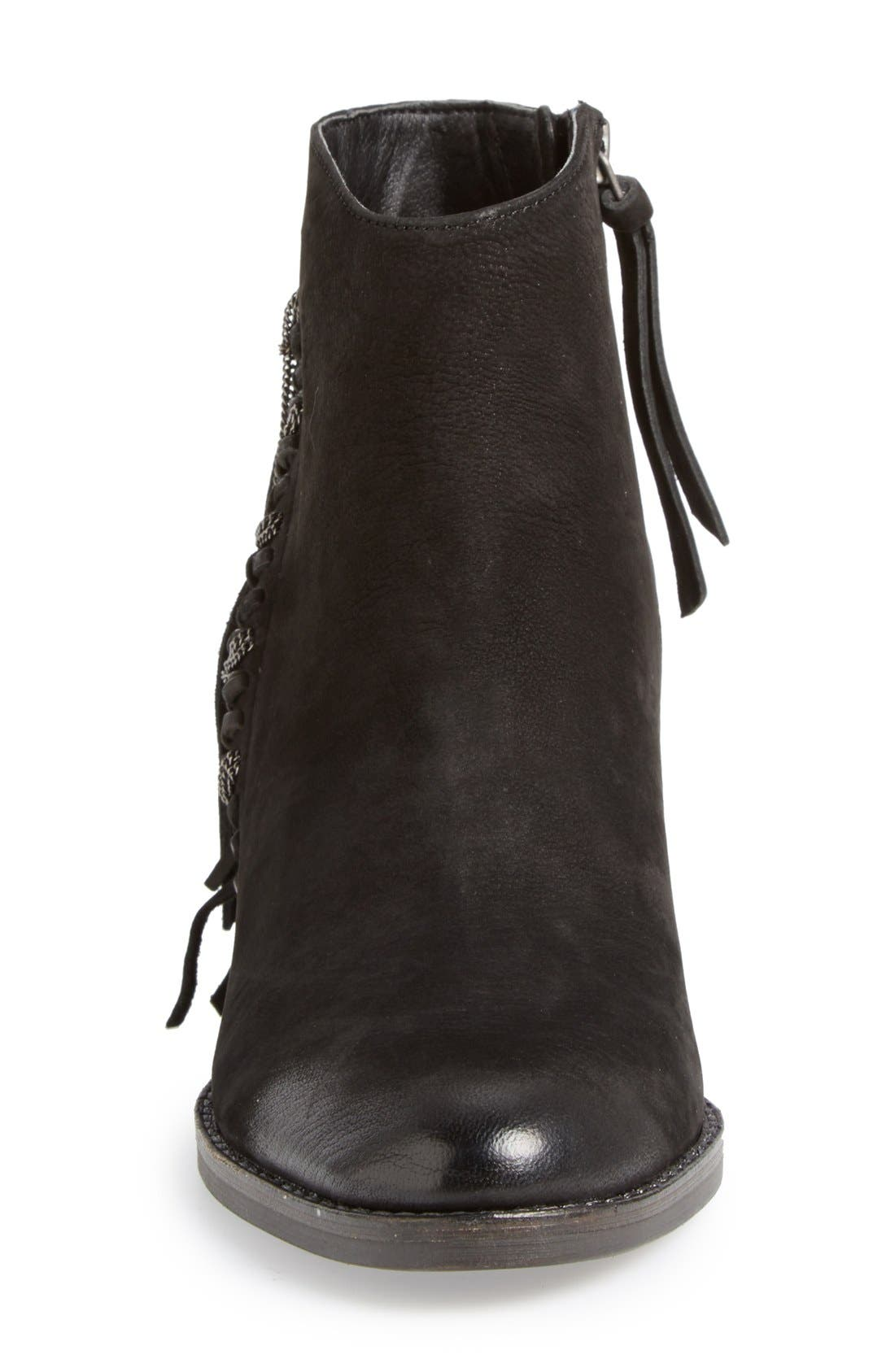 DOLCE VITA,                             'Juneau' Fringe Bootie,                             Alternate thumbnail 3, color,                             001