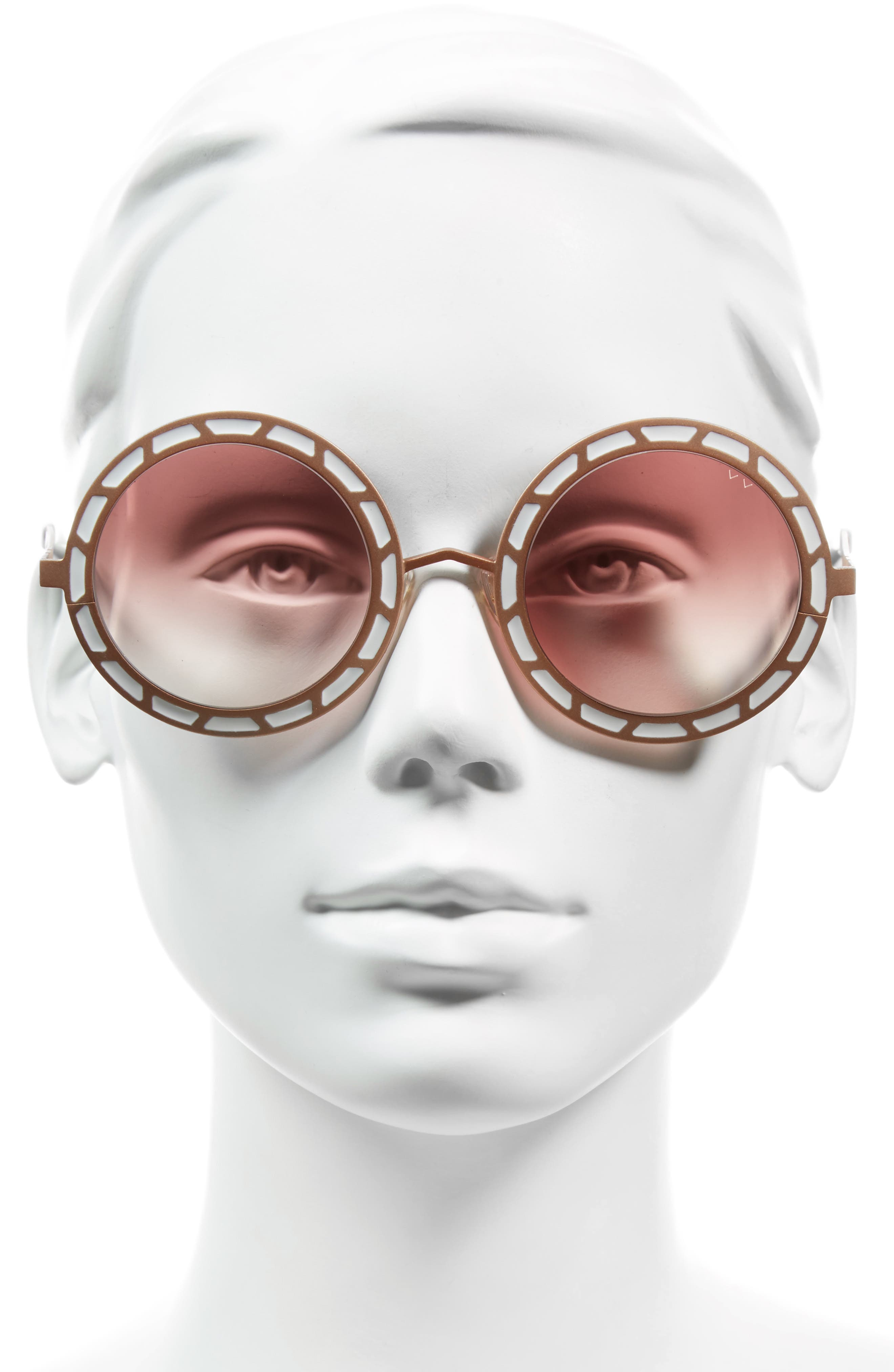 Sonny & Cher 50mm Round Sunglasses,                             Alternate thumbnail 6, color,