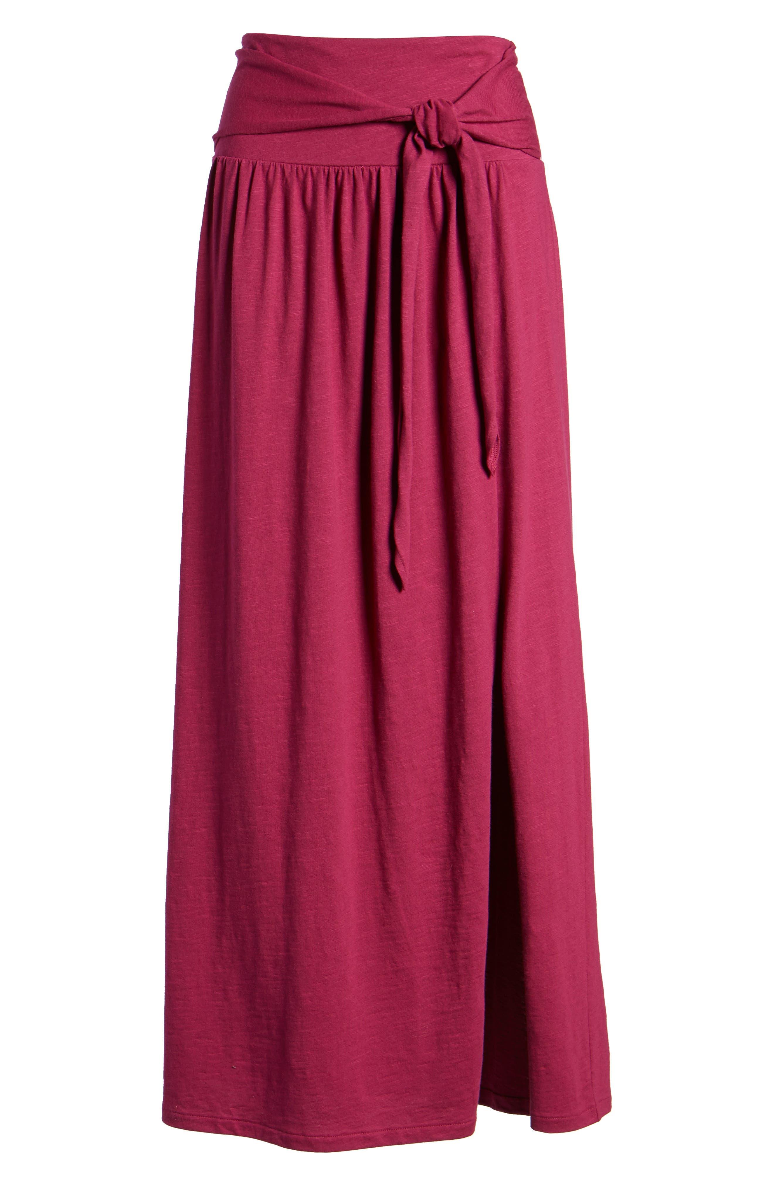 Tie Front Cotton Maxi Skirt,                             Alternate thumbnail 30, color,