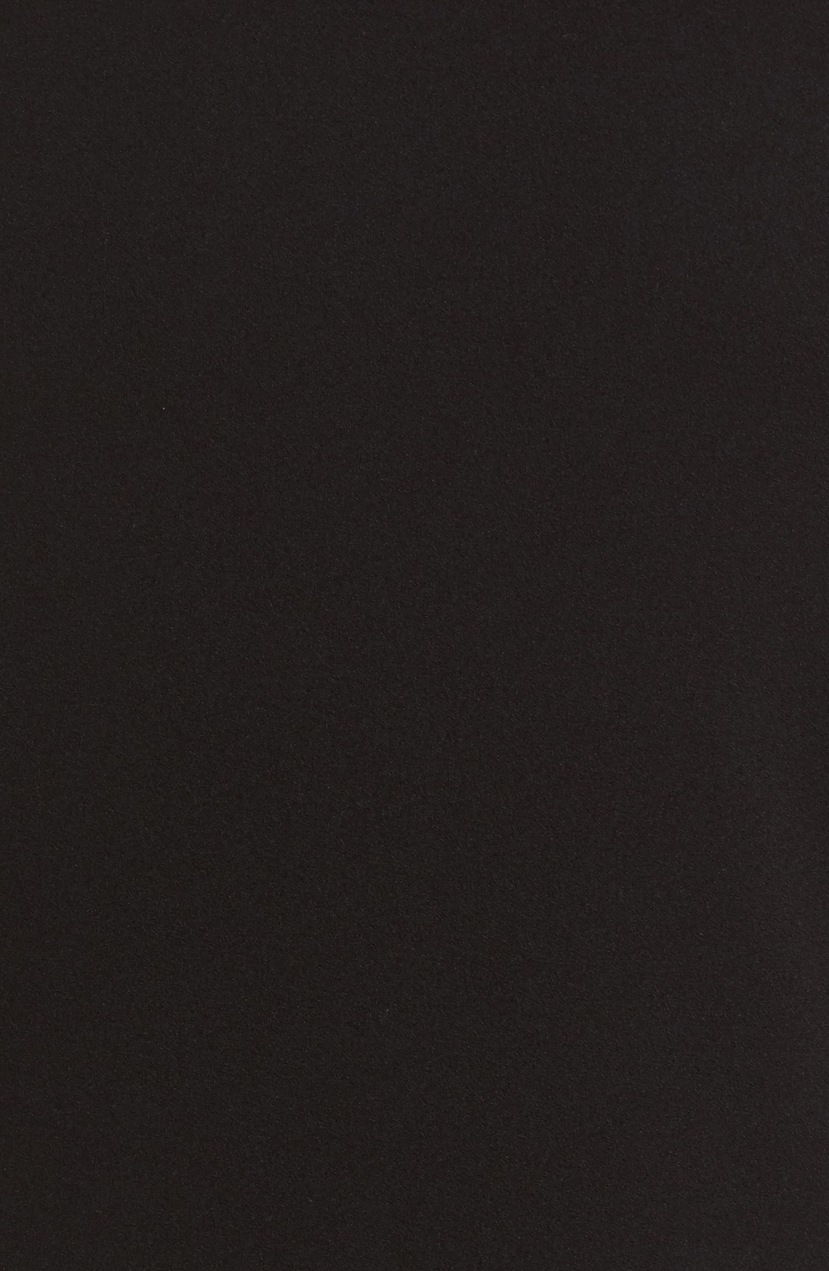 Ruffle Sleeve Sheath Dress,                             Alternate thumbnail 5, color,                             001