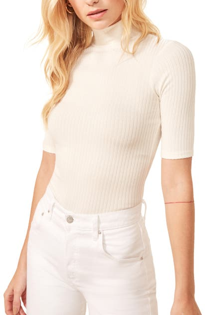 Reformation LEIA RIBBED TOP