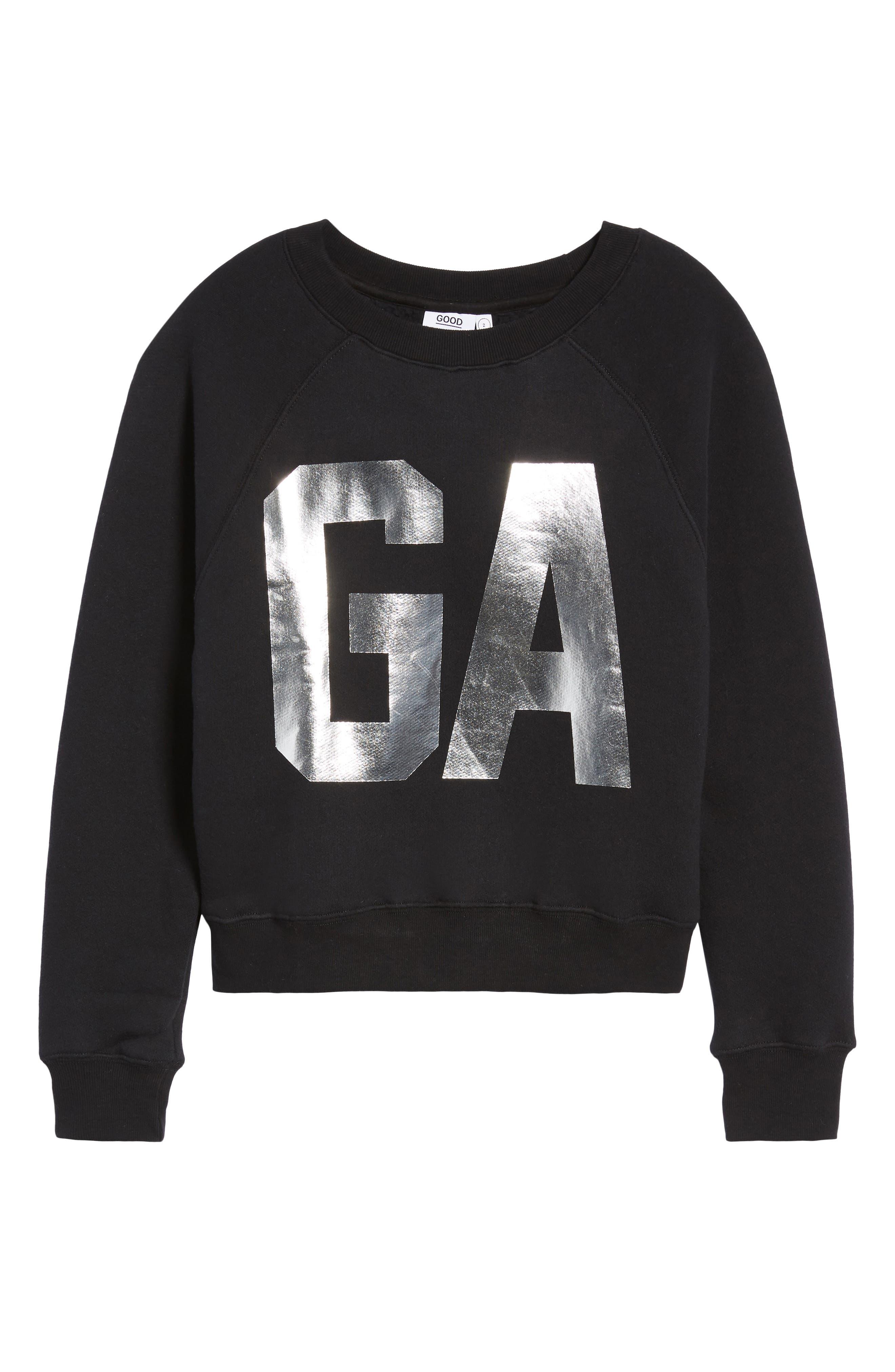 Goodies Varsity Sweatshirt,                             Alternate thumbnail 4, color,                             BLACK002