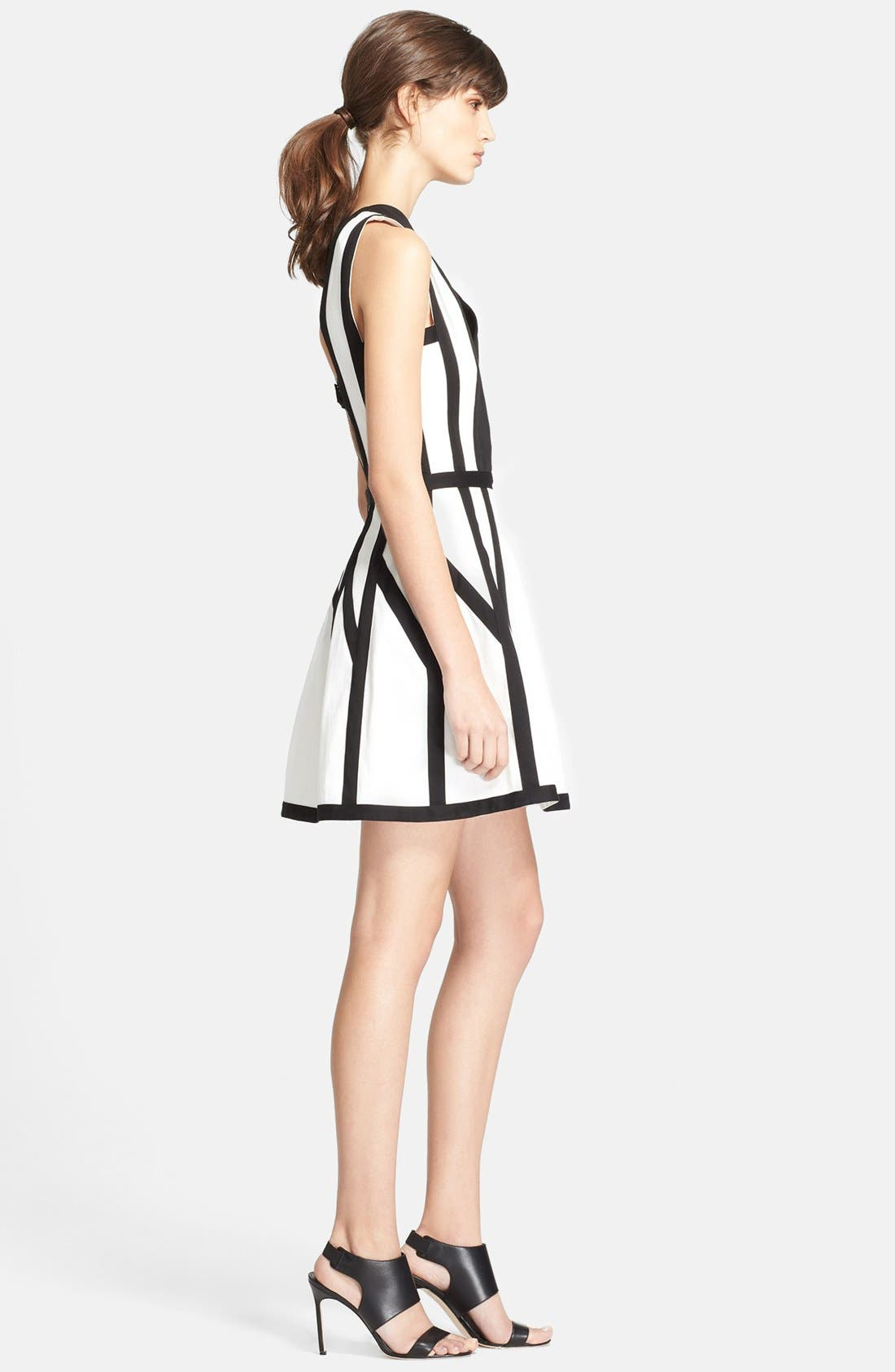 'Graphic Spear' Fit & Flare Dress,                             Alternate thumbnail 2, color,                             100