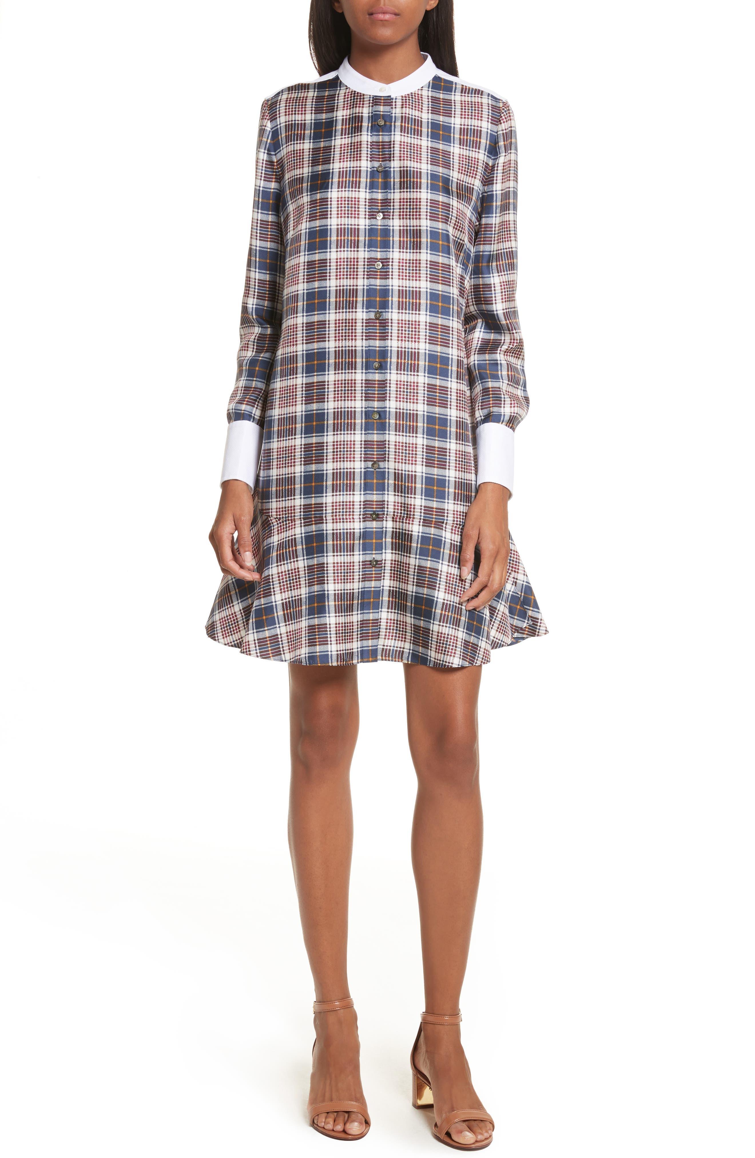 Cora Silk Dress,                             Main thumbnail 1, color,                             401