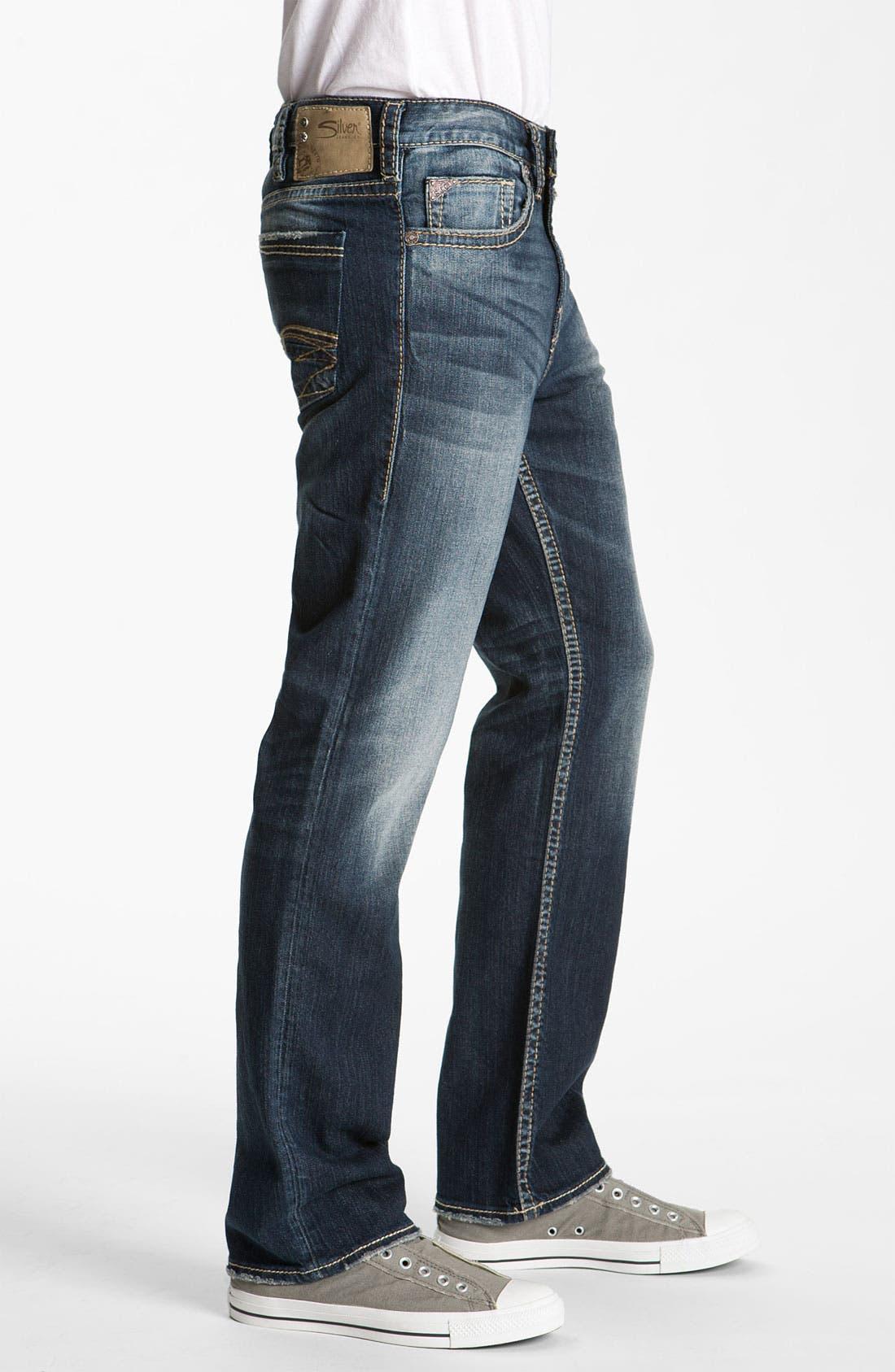 SILVER JEANS CO.,                             'Grayson Heritage' Straight Leg Jeans,                             Alternate thumbnail 2, color,                             401