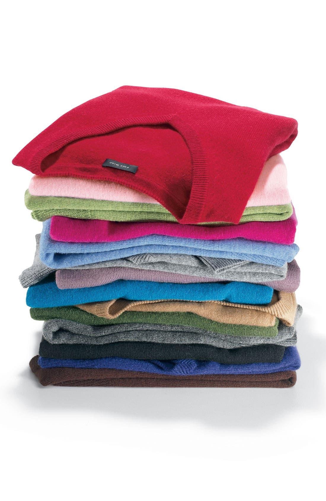 ONLY MINE,                             V-Neck Cashmere Sweater,                             Alternate thumbnail 2, color,                             001