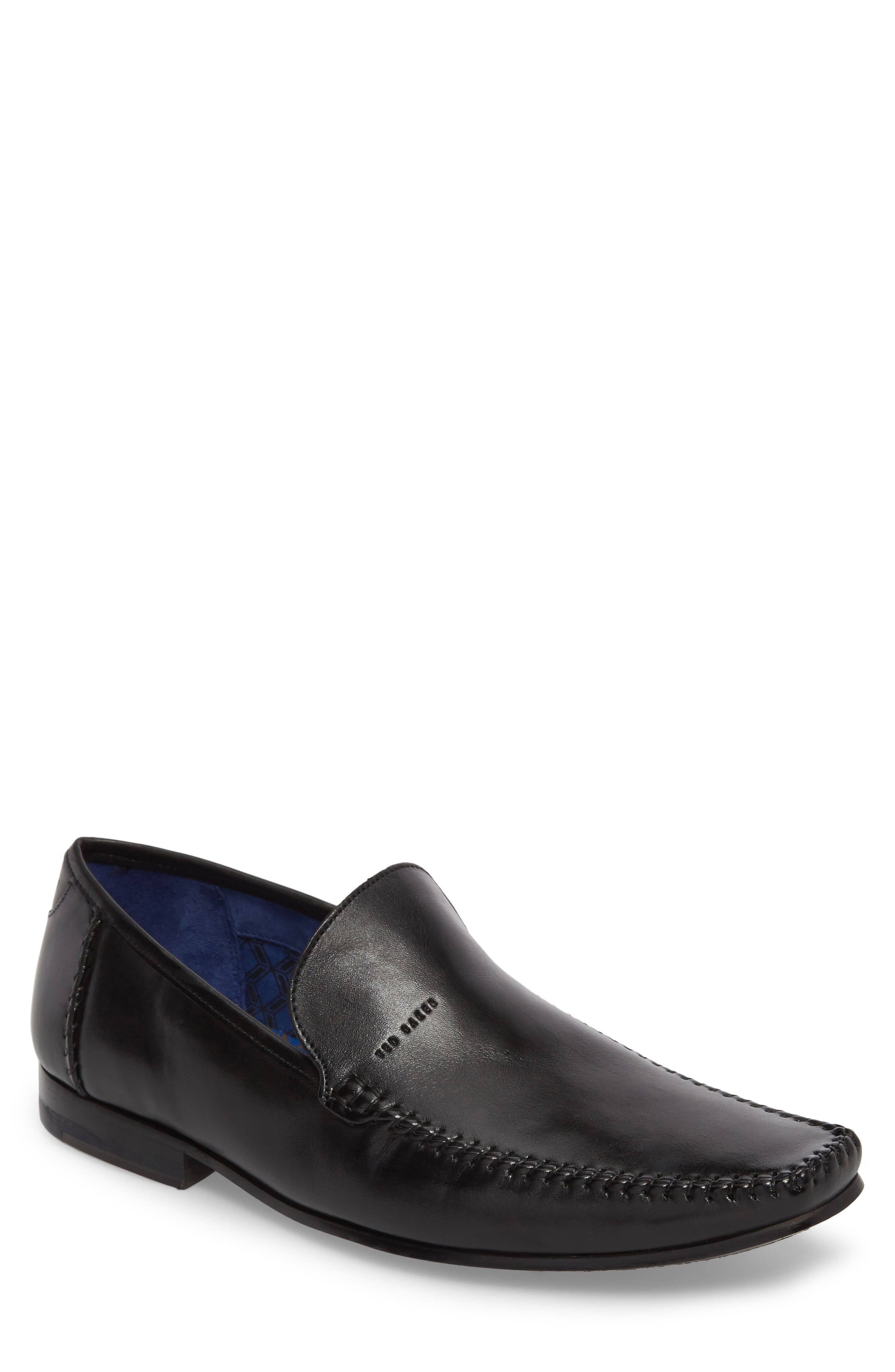 Bly 9 Venetian Loafer,                             Main thumbnail 1, color,                             BLACK LEATHER