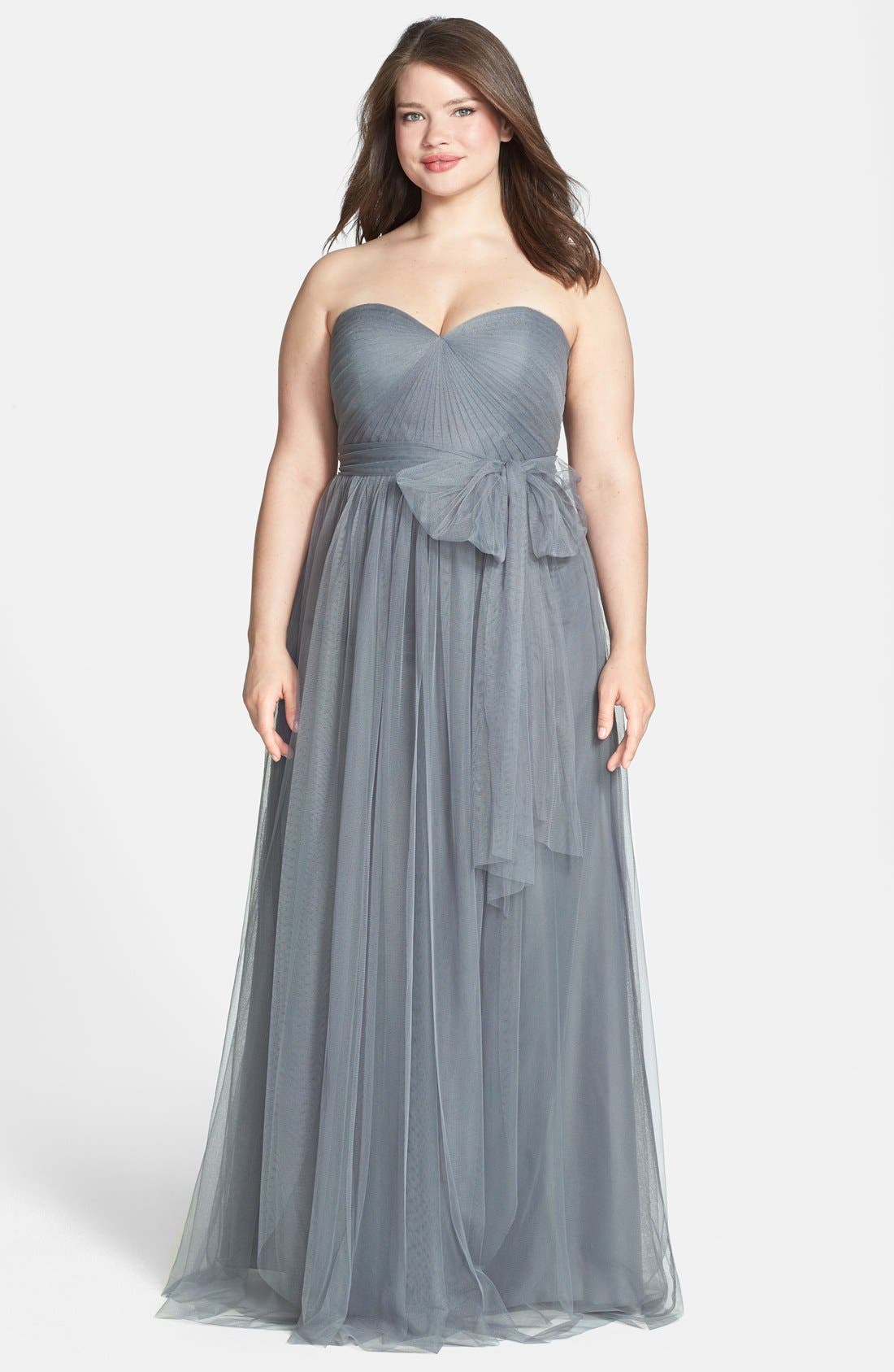 Annabelle Convertible Tulle Column Dress,                             Alternate thumbnail 102, color,