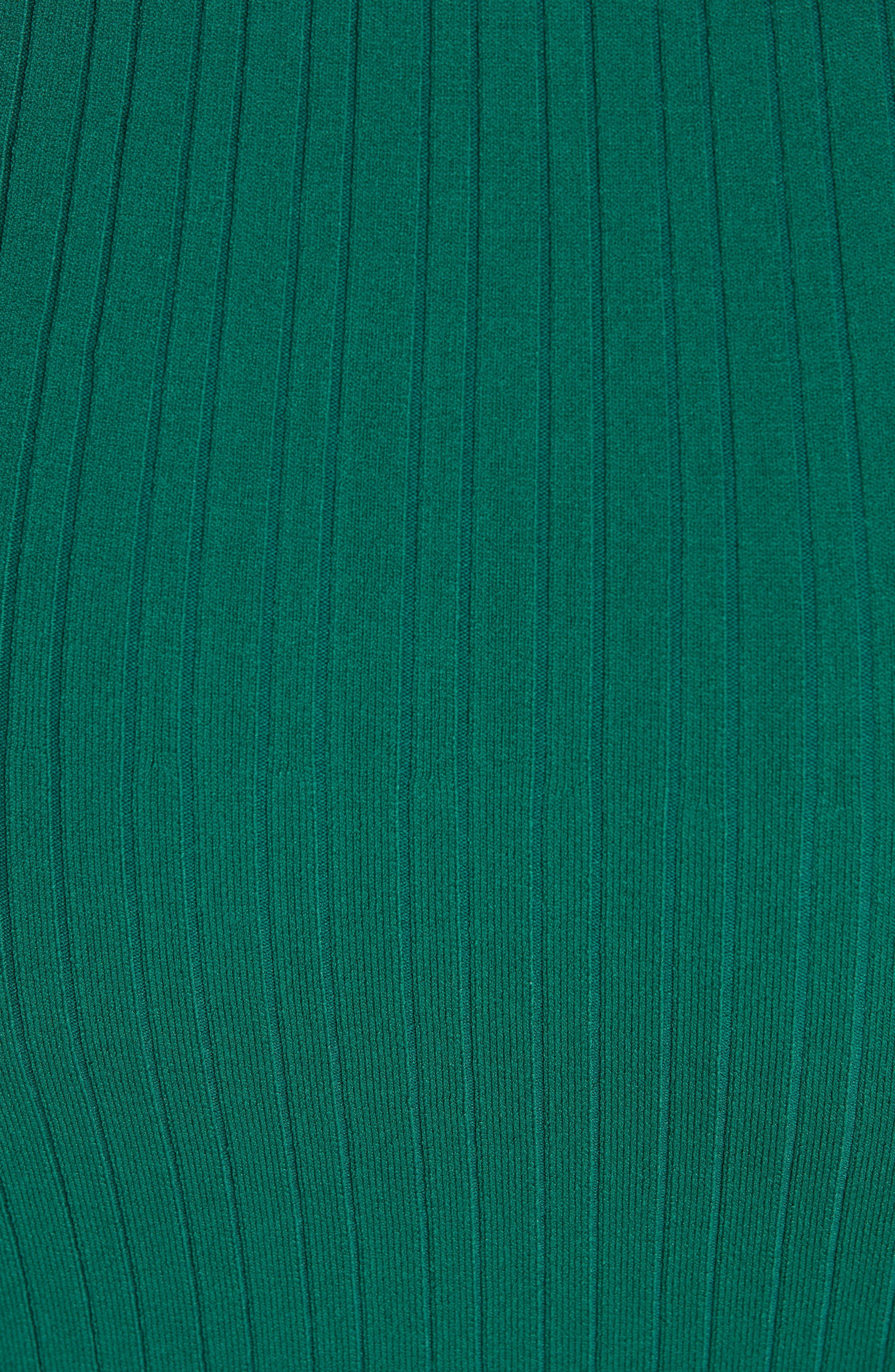 Rib Knit Midi Dress,                             Alternate thumbnail 9, color,