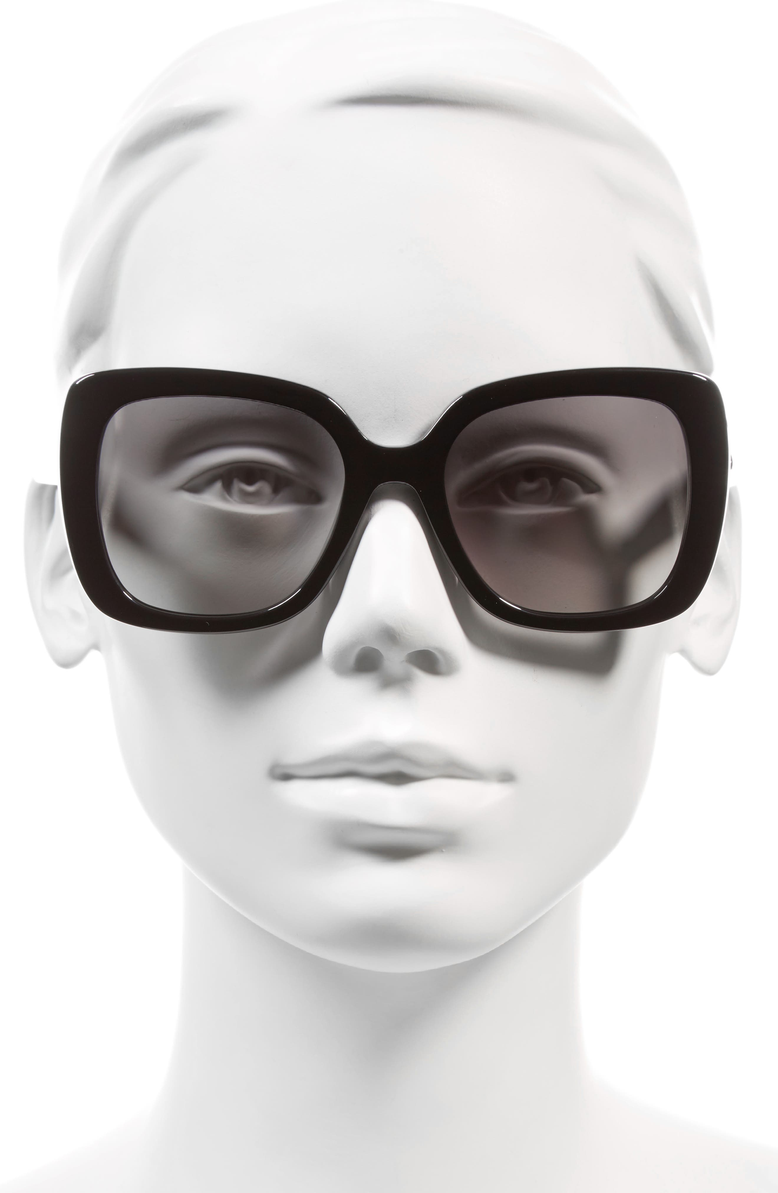 krystalyn 53mm sunglasses,                             Alternate thumbnail 2, color,                             BLACK