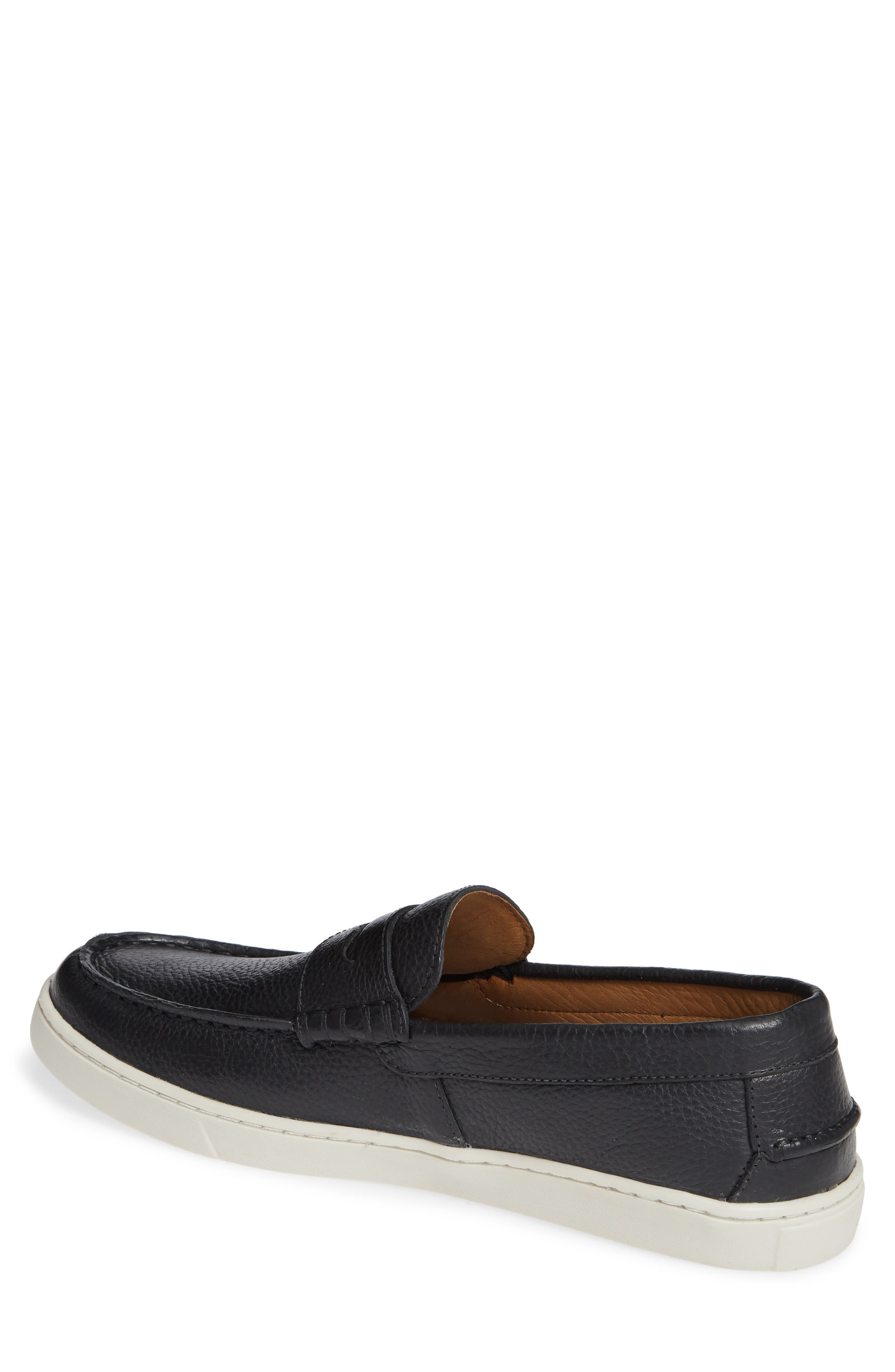 Chelan Penny Loafer,                             Alternate thumbnail 2, color,                             BLACK LEATHER