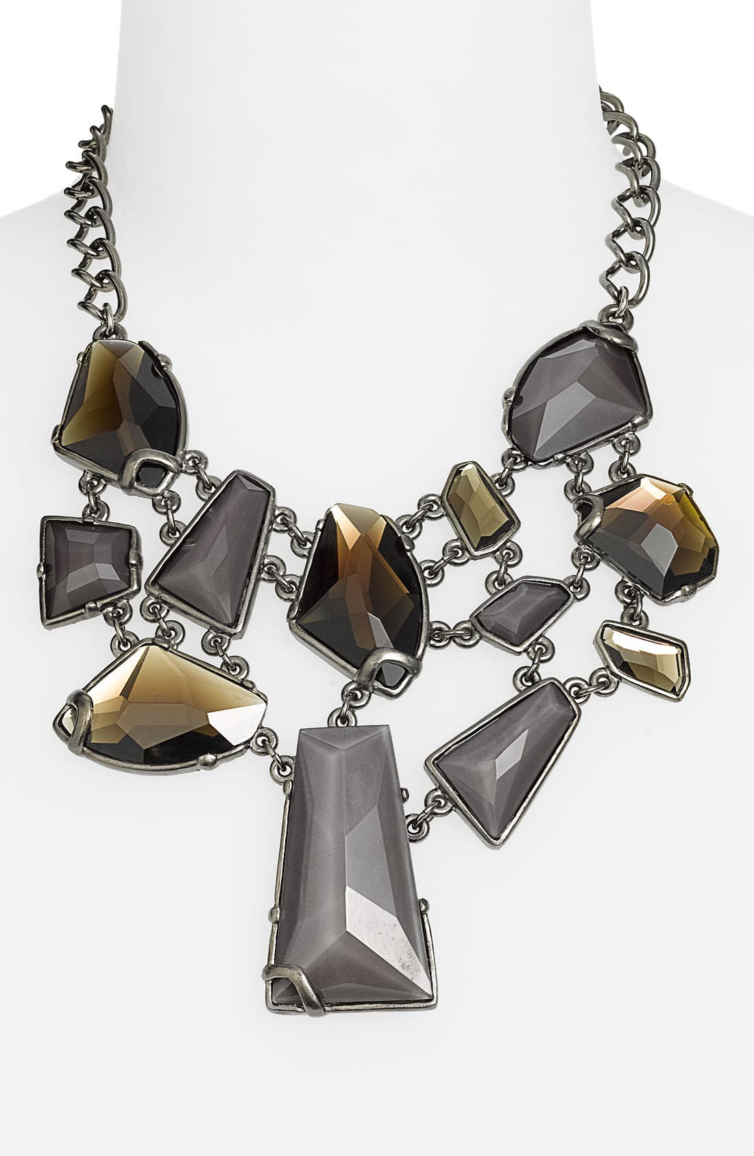 'Keep Rockin' Multi Stone Frontal Necklace,                             Main thumbnail 1, color,                             001