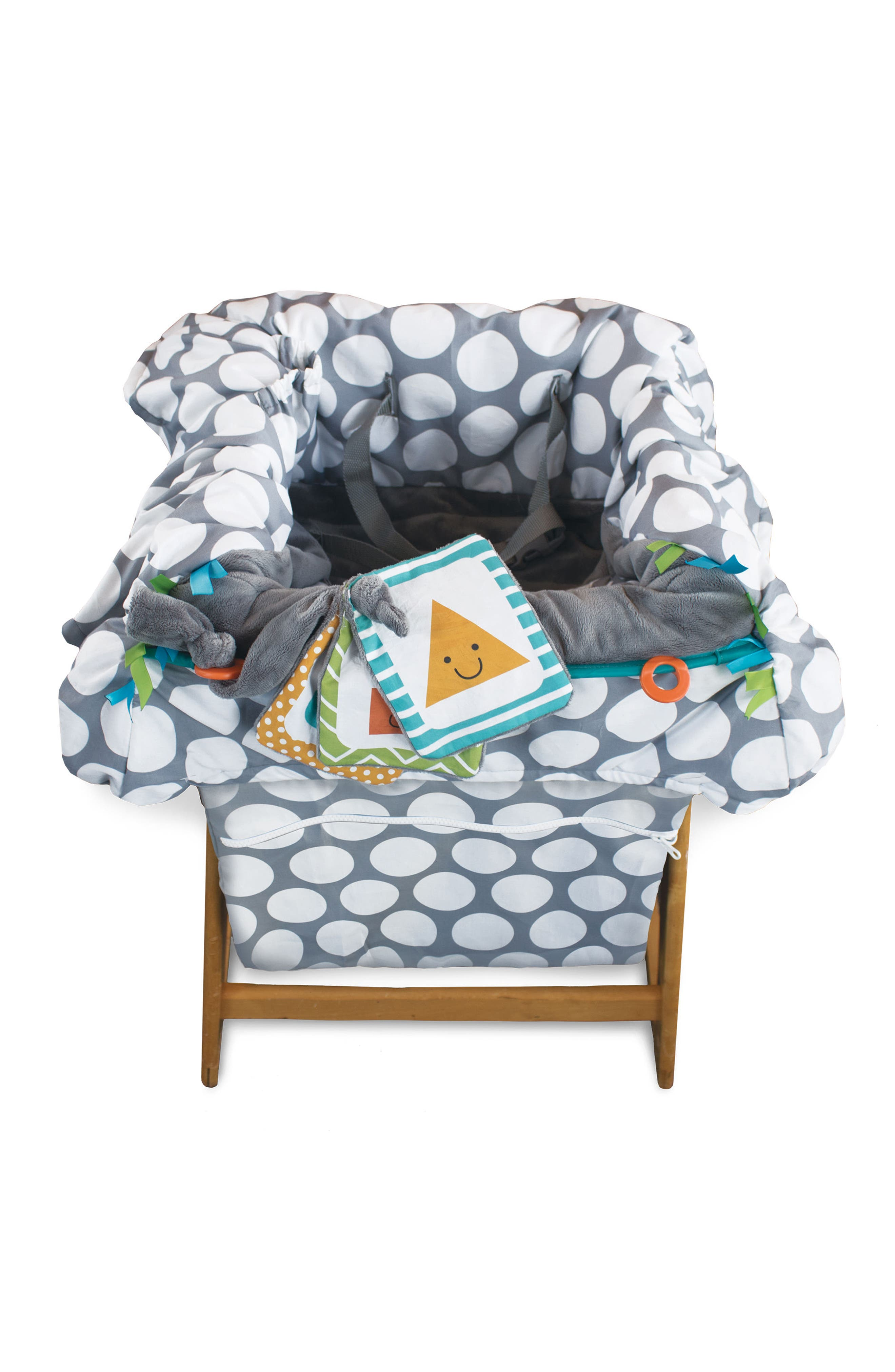 Luxe Shopping Cart Cover,                             Alternate thumbnail 6, color,                             JUMBO DOTS GRAY