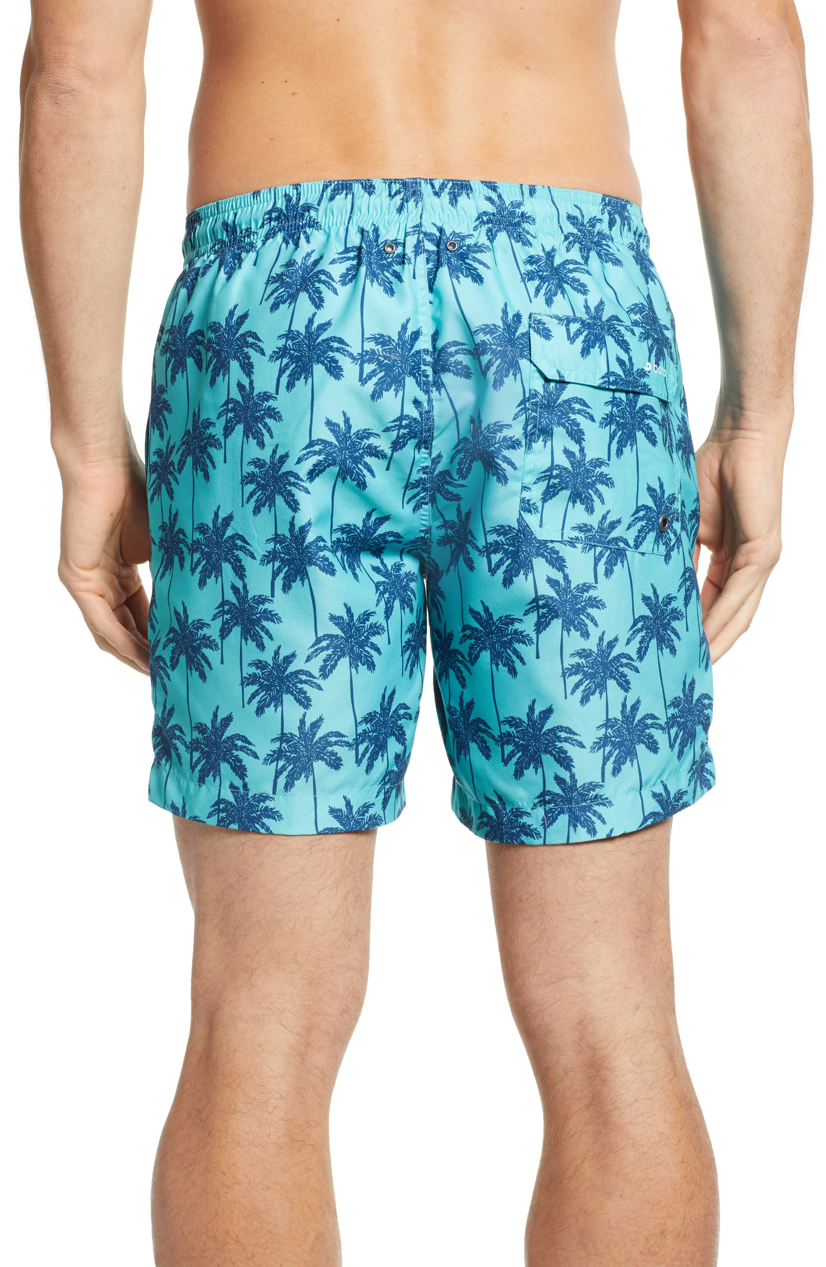 Cabo Palm Trees 6.5 Inch Swim Trunks,                             Alternate thumbnail 2, color,                             443