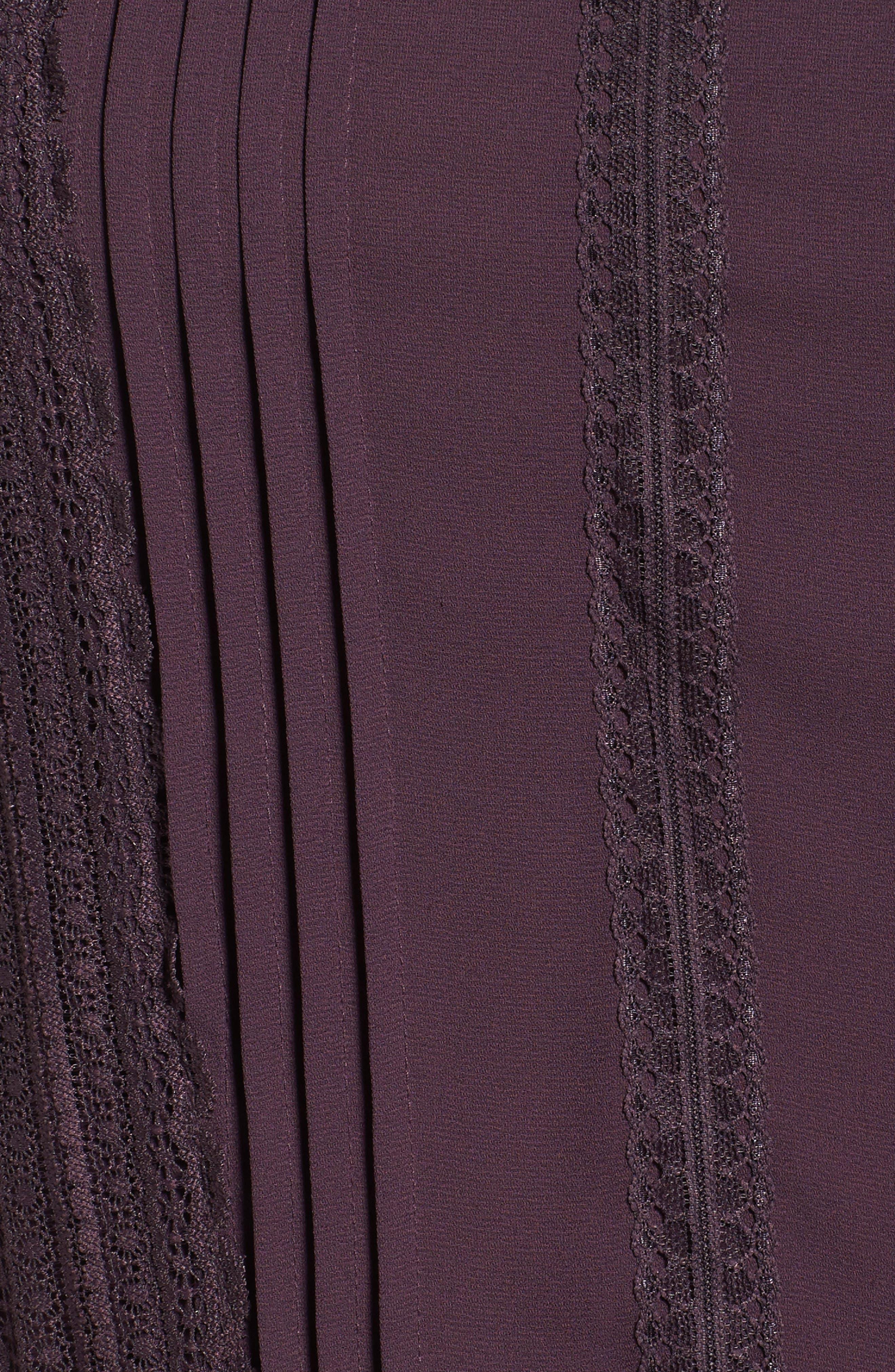 Lace Trim Peplum Blouse,                             Alternate thumbnail 14, color,