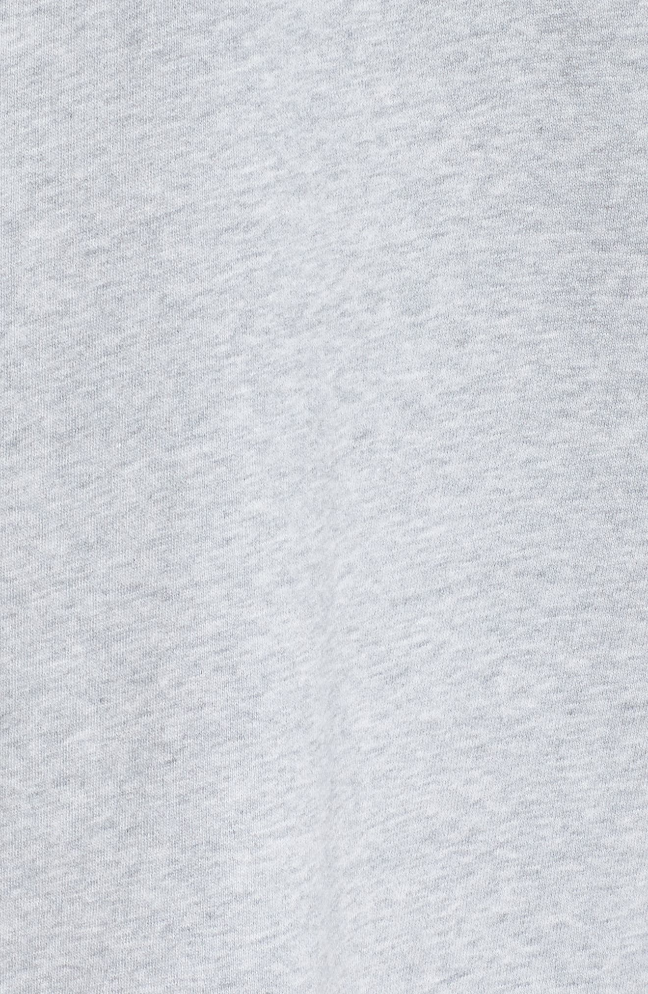 Club55 Cutout Back Sweatshirt,                             Alternate thumbnail 6, color,                             GREY MARLE