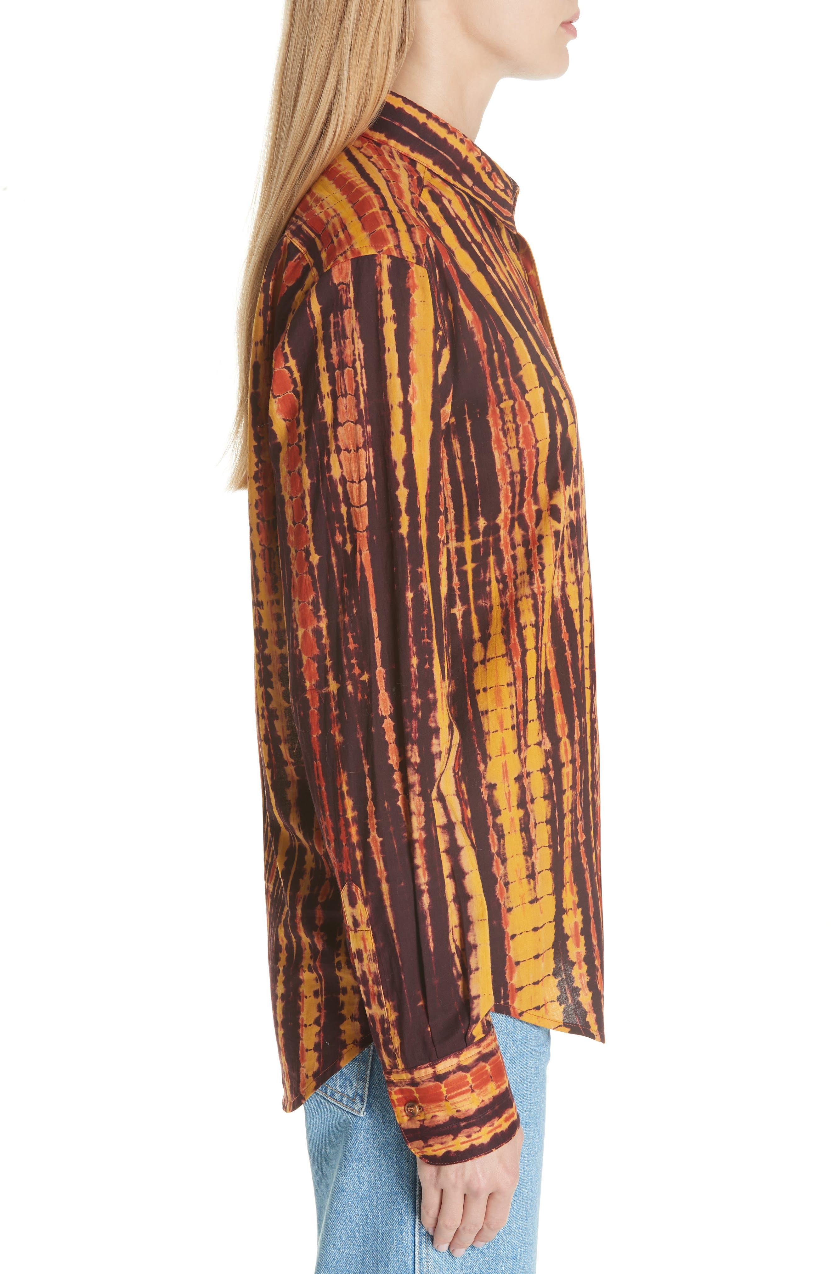 ECKHAUS LATTA,                             Hand Dyed Cotton Shirt,                             Alternate thumbnail 3, color,                             200