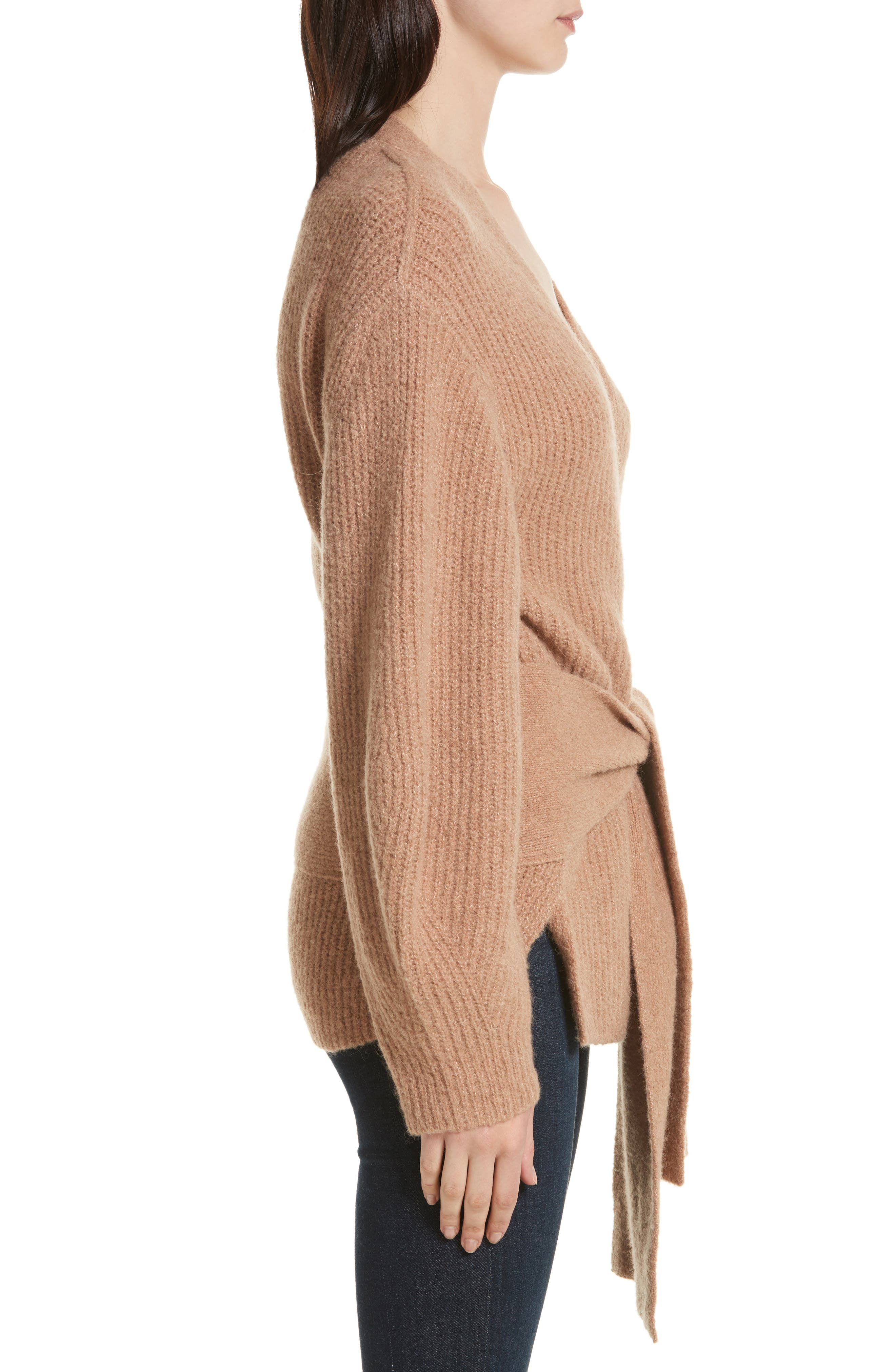 Hansen Belted Cardigan,                             Alternate thumbnail 3, color,                             020