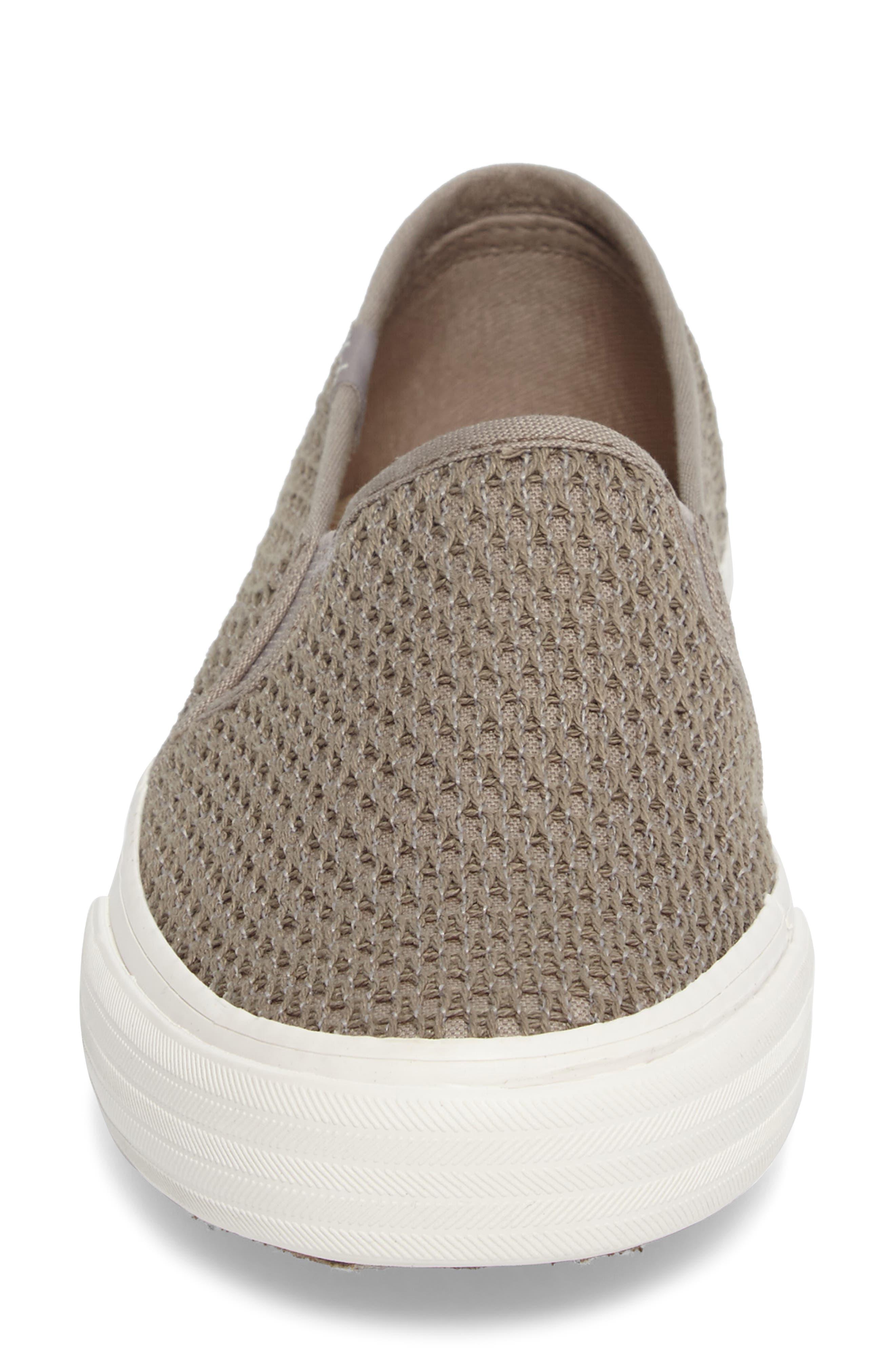 Double Decker Crochet Slip-On Sneaker,                             Alternate thumbnail 4, color,                             250