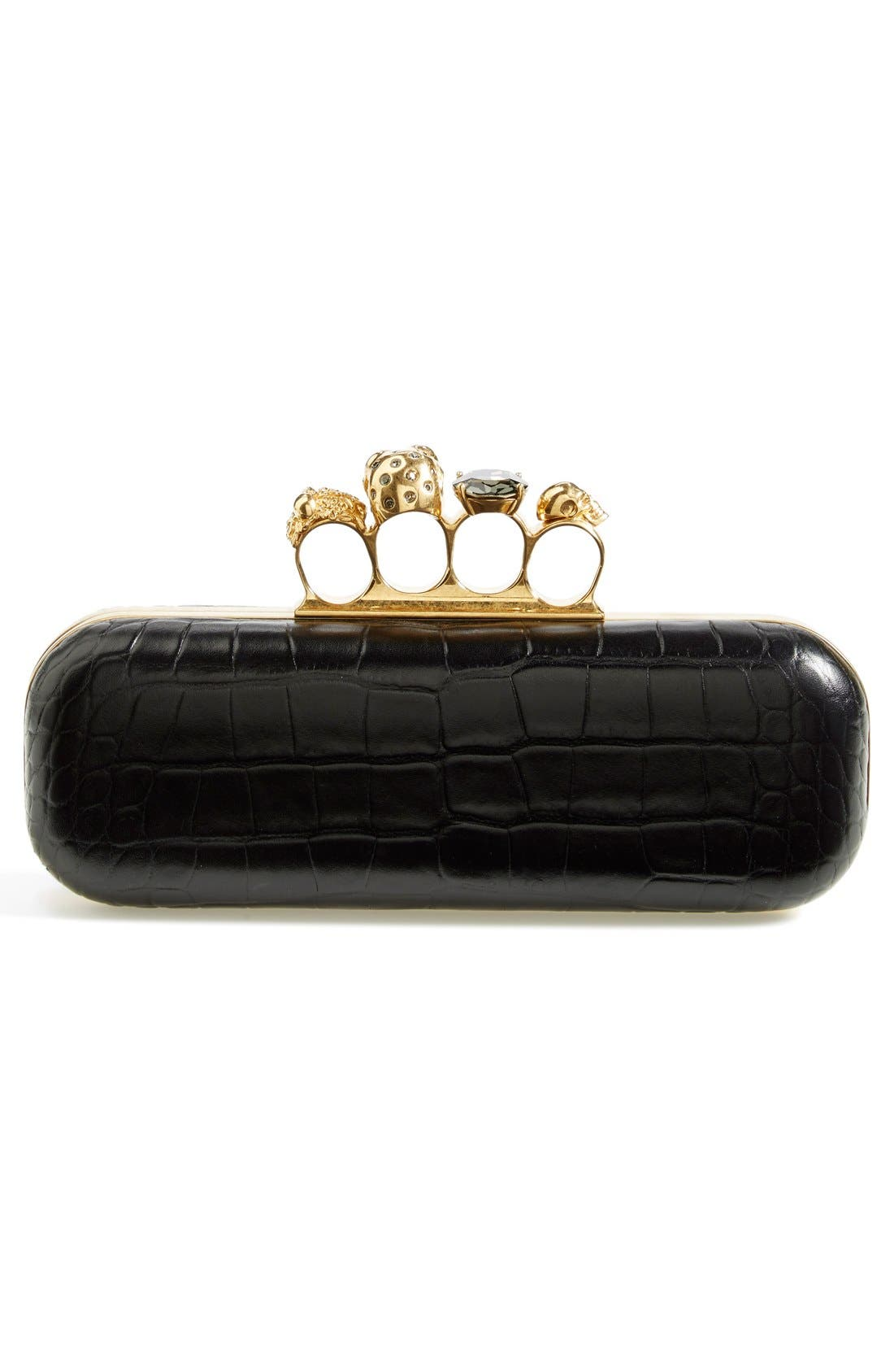 'Knuckle Box' Clutch,                             Alternate thumbnail 3, color,