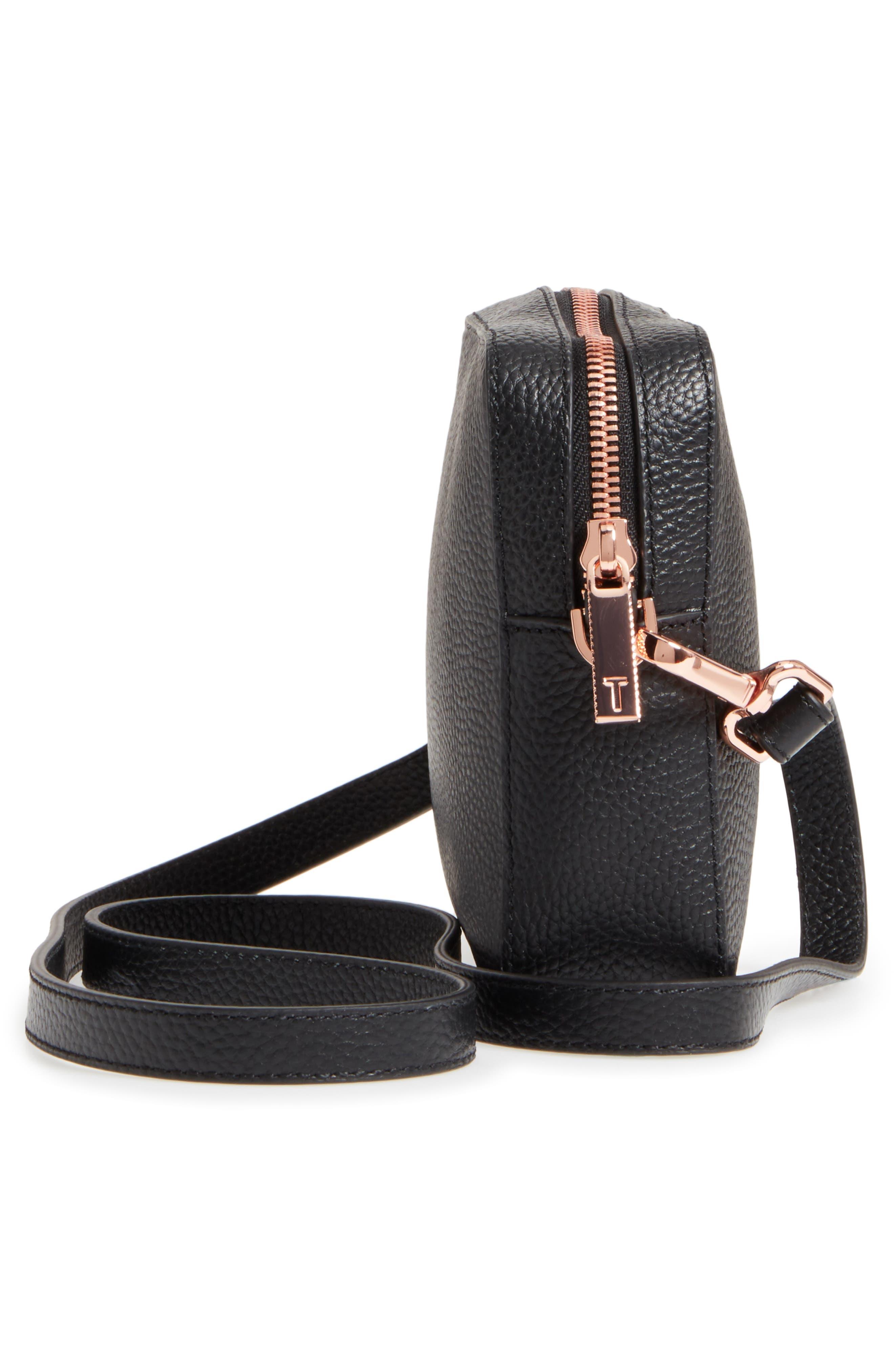 Susi Leather Crossbody Bag,                             Alternate thumbnail 5, color,                             001