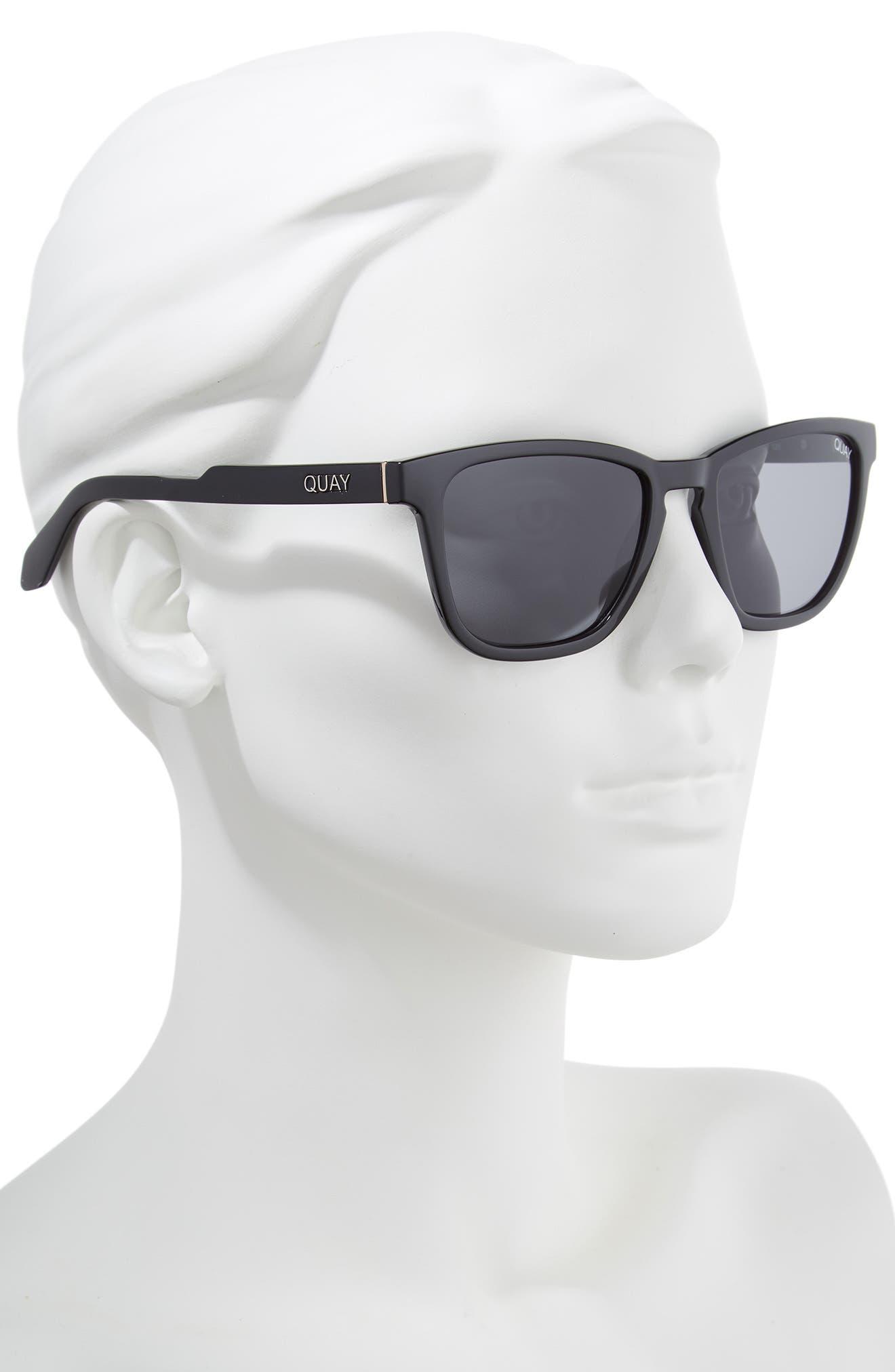 Hardwire 54mm Polarized Sunglasses,                             Alternate thumbnail 2, color,                             BLACK/ SMOKE LENS