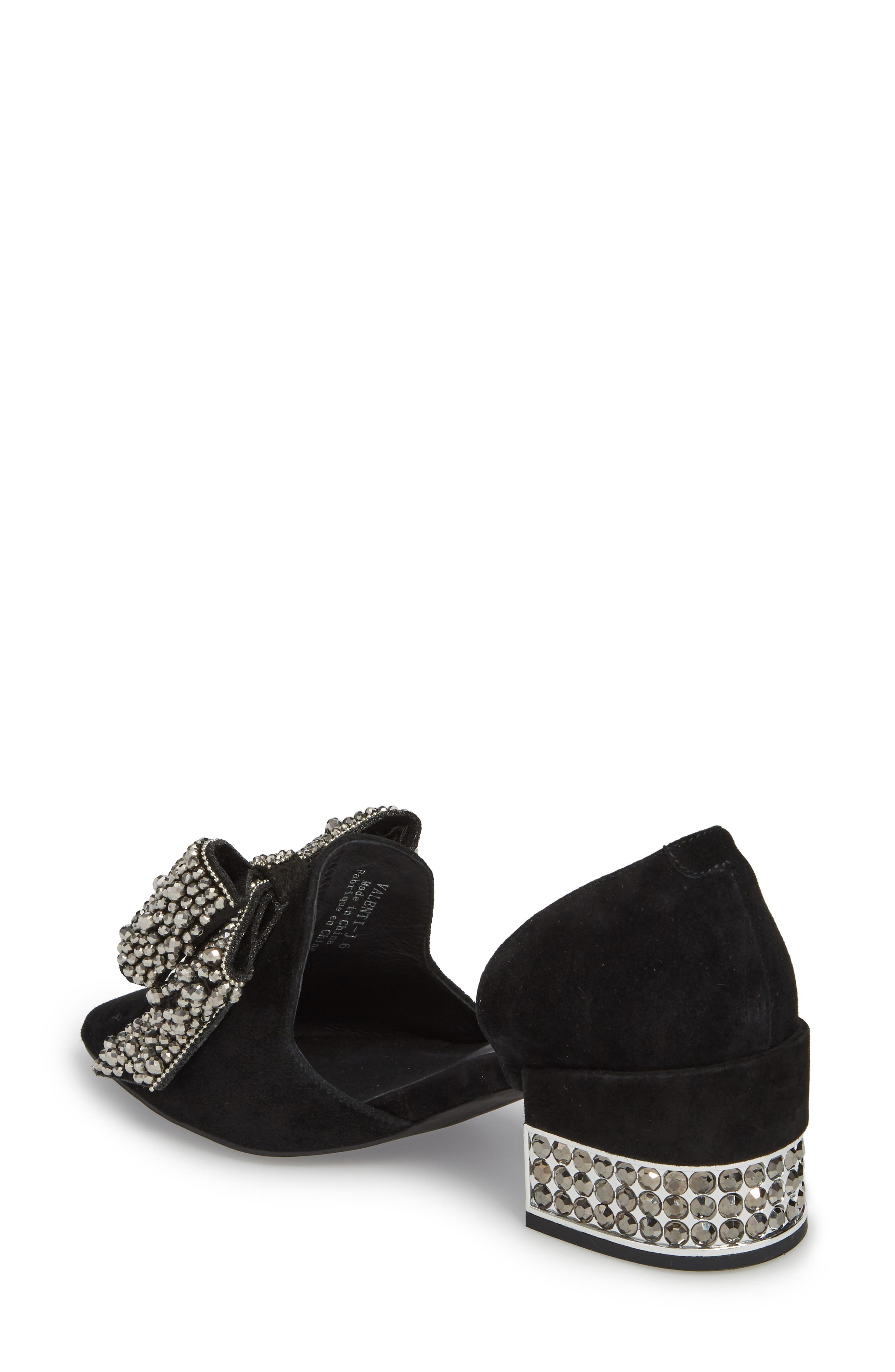 Valenti Embellished Bow Loafer,                             Alternate thumbnail 2, color,                             001