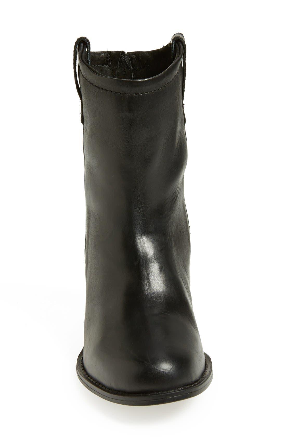 'Taralyn' Leather Boot,                             Alternate thumbnail 4, color,                             002